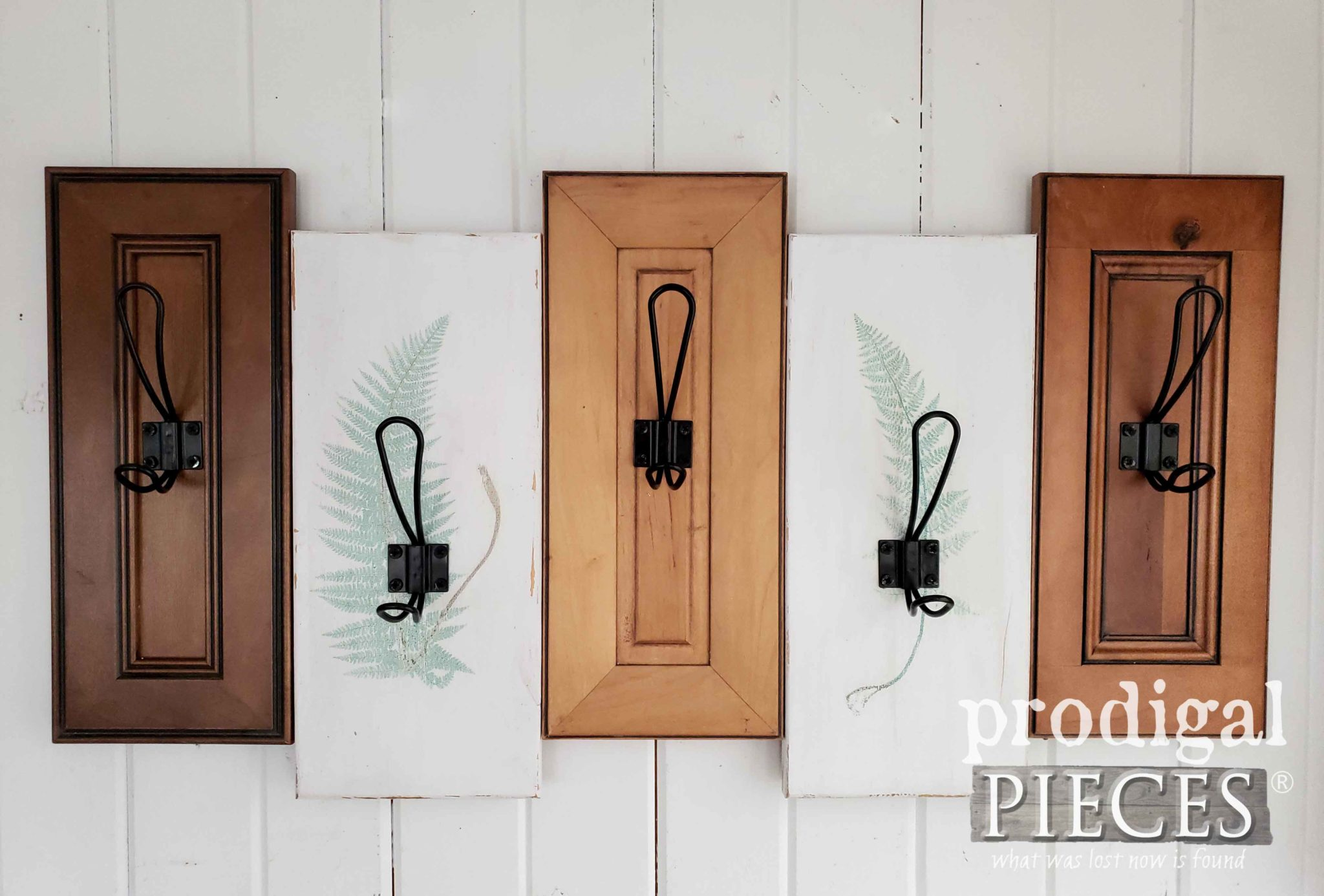Upcycled Drawer Fronts make for a Modern Farmhouse Coat Rack with Botanical Accents by Larissa of Prodigal Pieces | prodigalpieces.com #prodigalpieces #home #diy #homedecor #handmade #farmhouse #homedecorideas