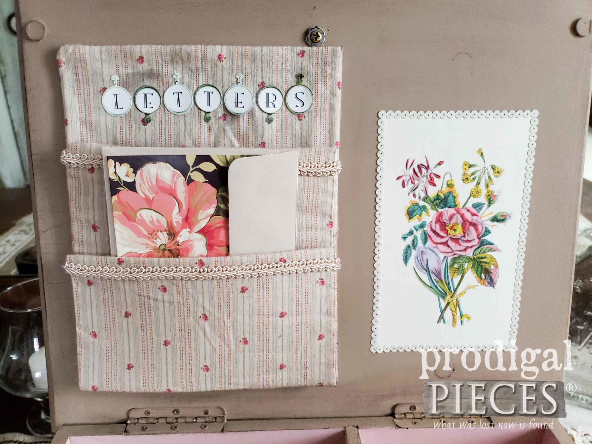 Romantic Style Stationery Keepsake Box by Larissa of Prodigal Pieces | prodigalpieces.com #prodigalpieces #diy #handmade