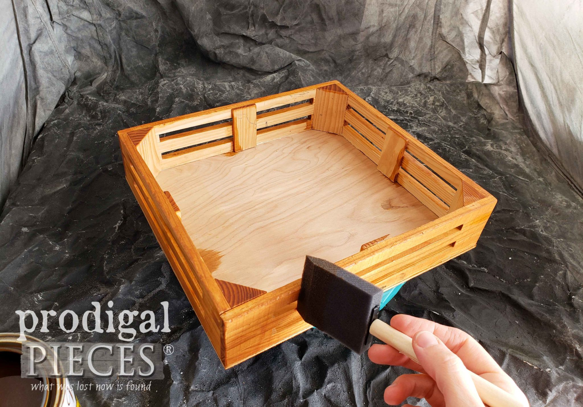 Staining Crate Centerpiece | prodigalpieces.com