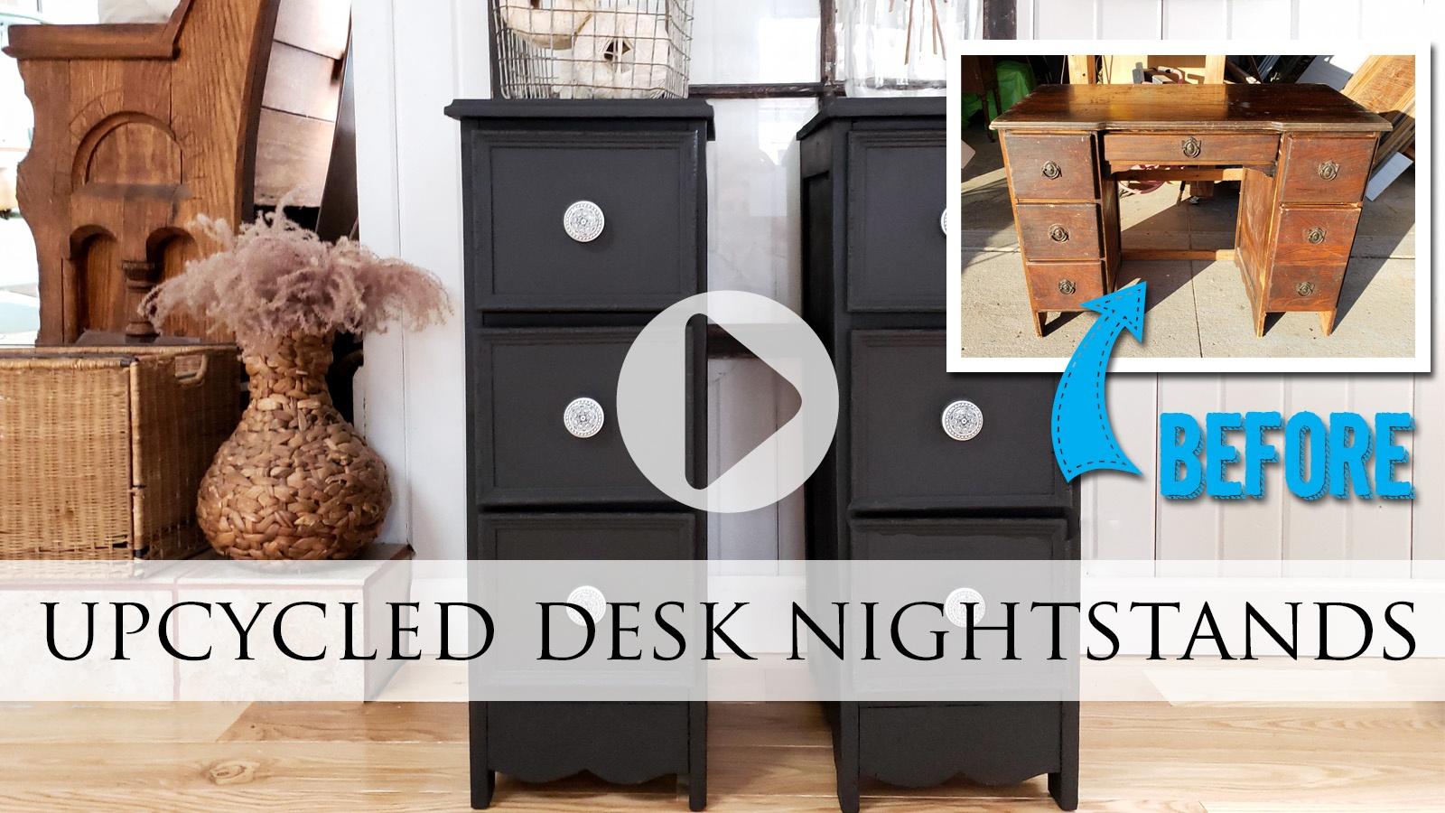 DIY Video Desk Nightstands by Larissa of Prodigal Pieces | prodigalpieces.com