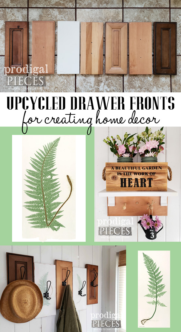 Create your own decor using upcycled drawer fronts. Full DIY tutorial by Larissa at Prodigal Pieces at prodigalpieces.com #prodigalpieces #diy #home #farmhouse #homedecor #handmade #homedecorideas