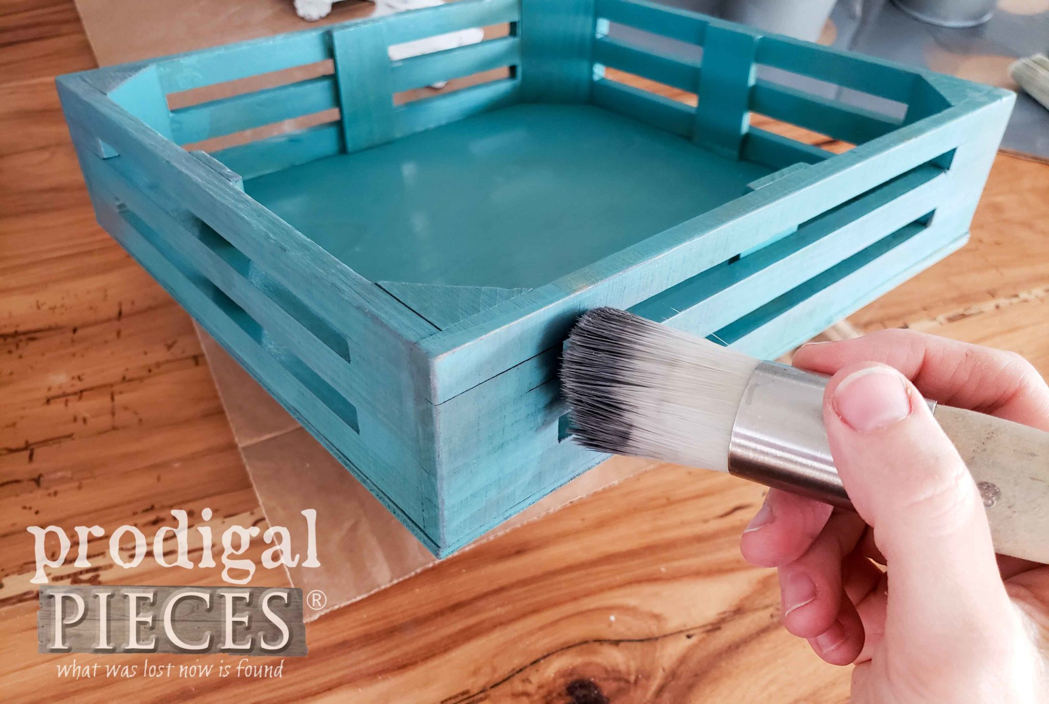 Waxing Crate with Zibra Round Brush | prodigalpieces.com