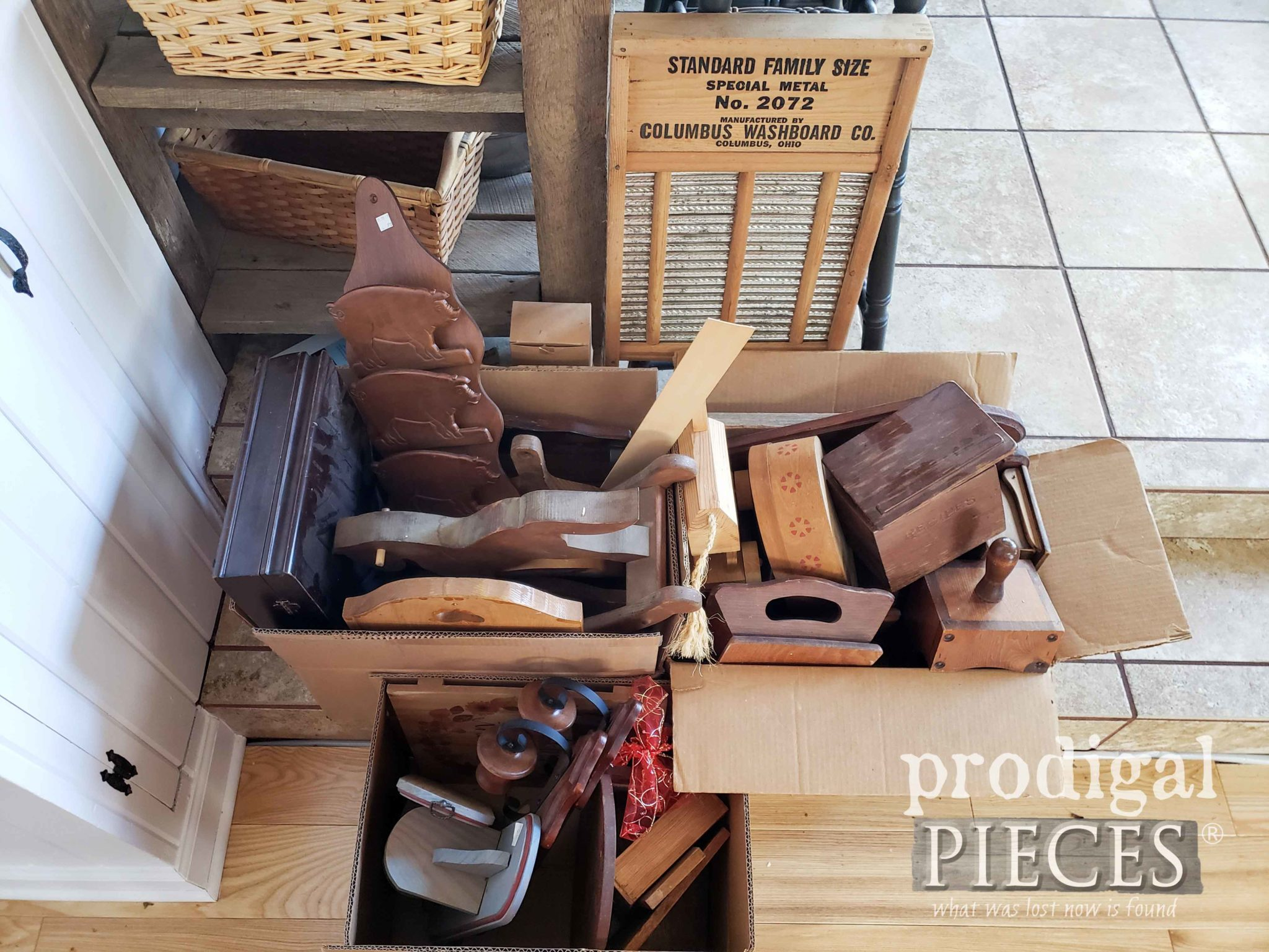 Wooden Project Pile for Thrifty Makeovers by Prodigal Pieces | prodigalpieces.com