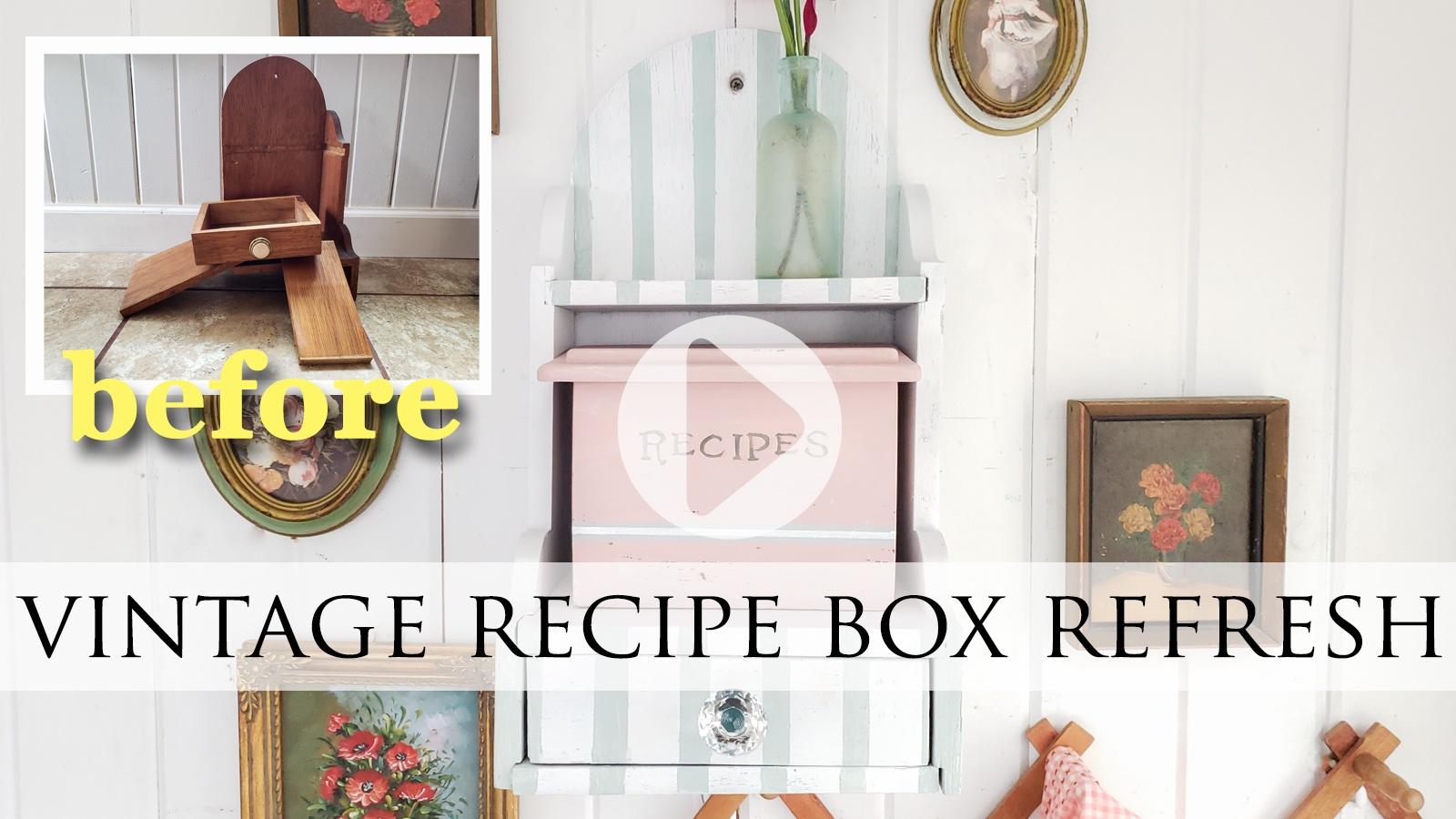 DIY Tutorial for Vintage Recipe Box by Larissa of Prodigal Pieces | prodigalpieces.com #prodigalpieces
