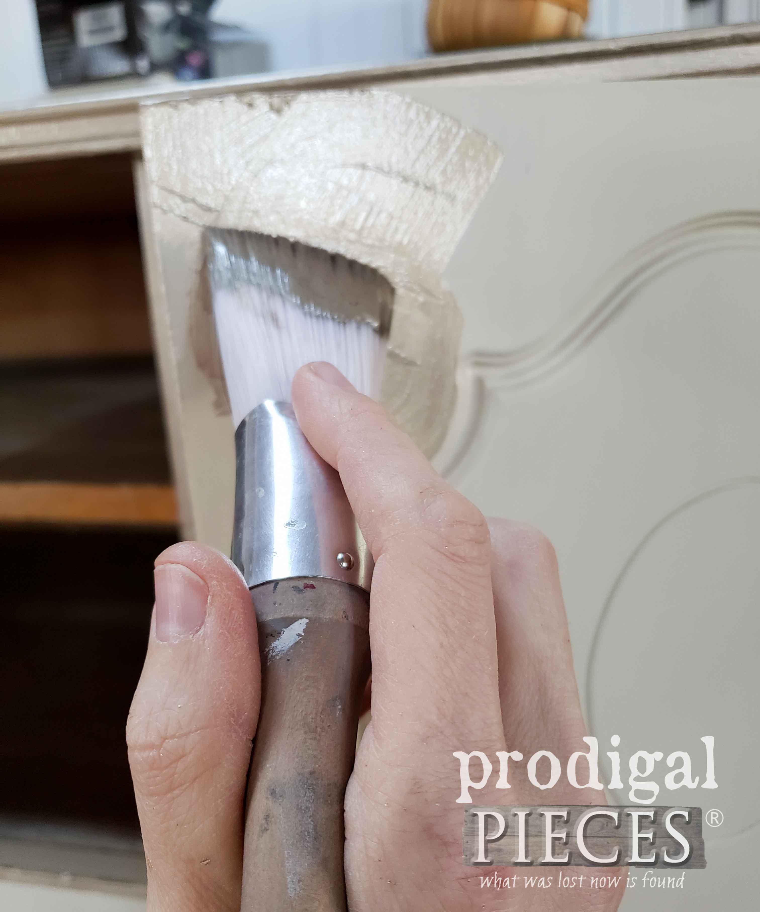 Brushing on Metallic Paints with Zibra Paint Brush | prodigalpieces.com