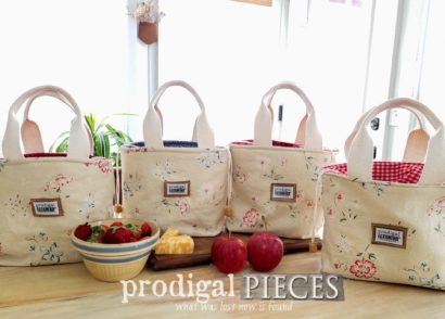 Featured DIY Insulated Lunch Bag from Upcycled Linen Skirts by Larissa of Prodigal Pieces | prodigalpieces.com #prodigalpieces #diy #handmade #fashion #sewing #home #accessories