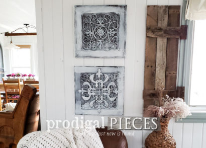 Featured Farmhouse Wall Decor Made from Upcycled Cupboard Doors by Larissa of Prodigal Pieces | prodigalpieces.com #prodigalpieces #diy #home #farmhouse #homedecor #handmade
