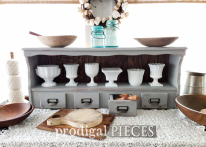Featured Upcycled Bookcase Headboard made into a Farmhouse Hutch by Larissa of Prodigal Pieces | prodigalpieces.com #prodigalpieces #farmhouse #home #diy #homedecor #vintage