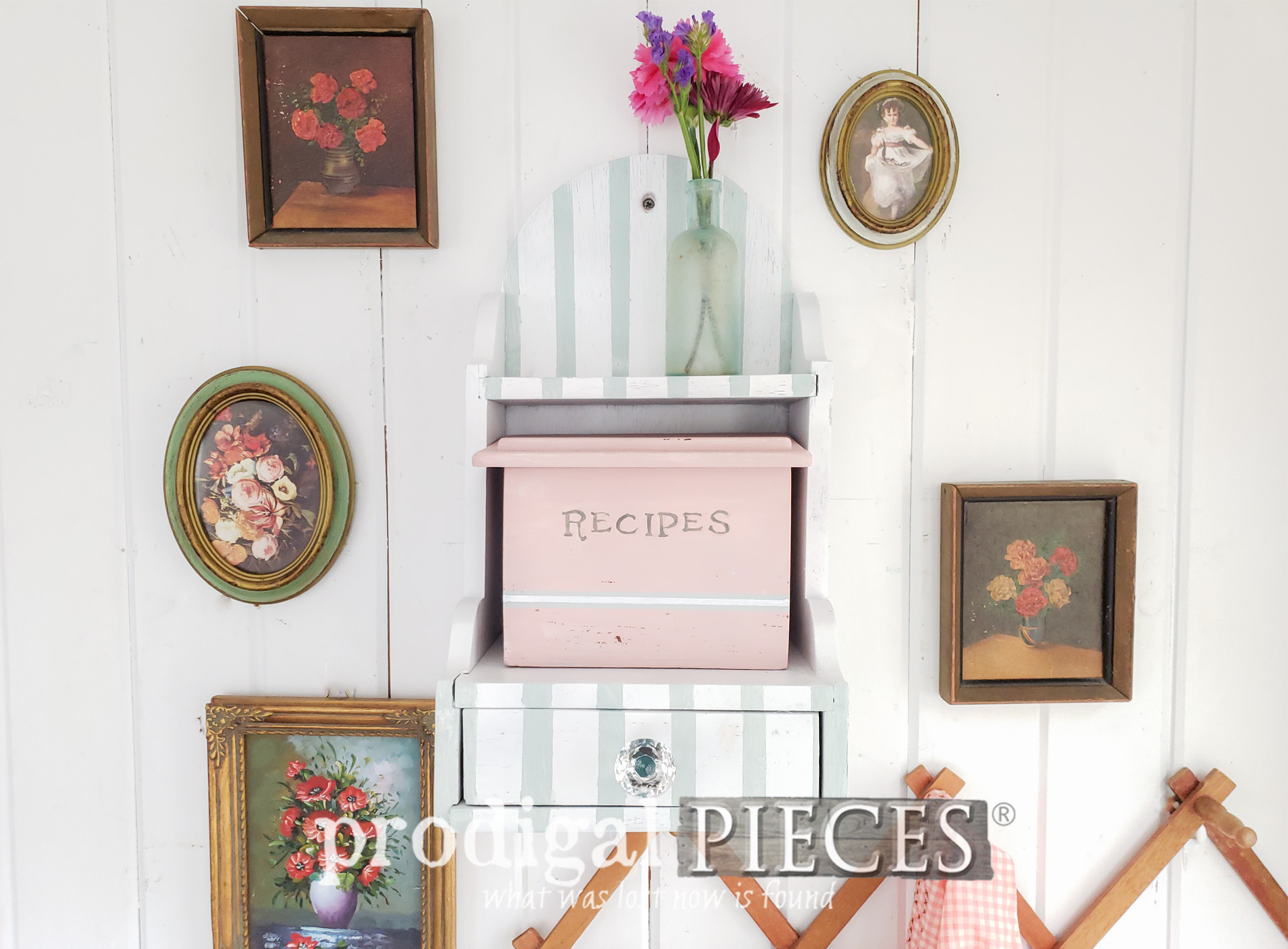 Featured Vintage Recipe Box Made New by Larissa of Prodigal Pieces | Video tutorial at prodigalpieces.com #prodigalpieces #diy #handmade #home #vintage #homedecor