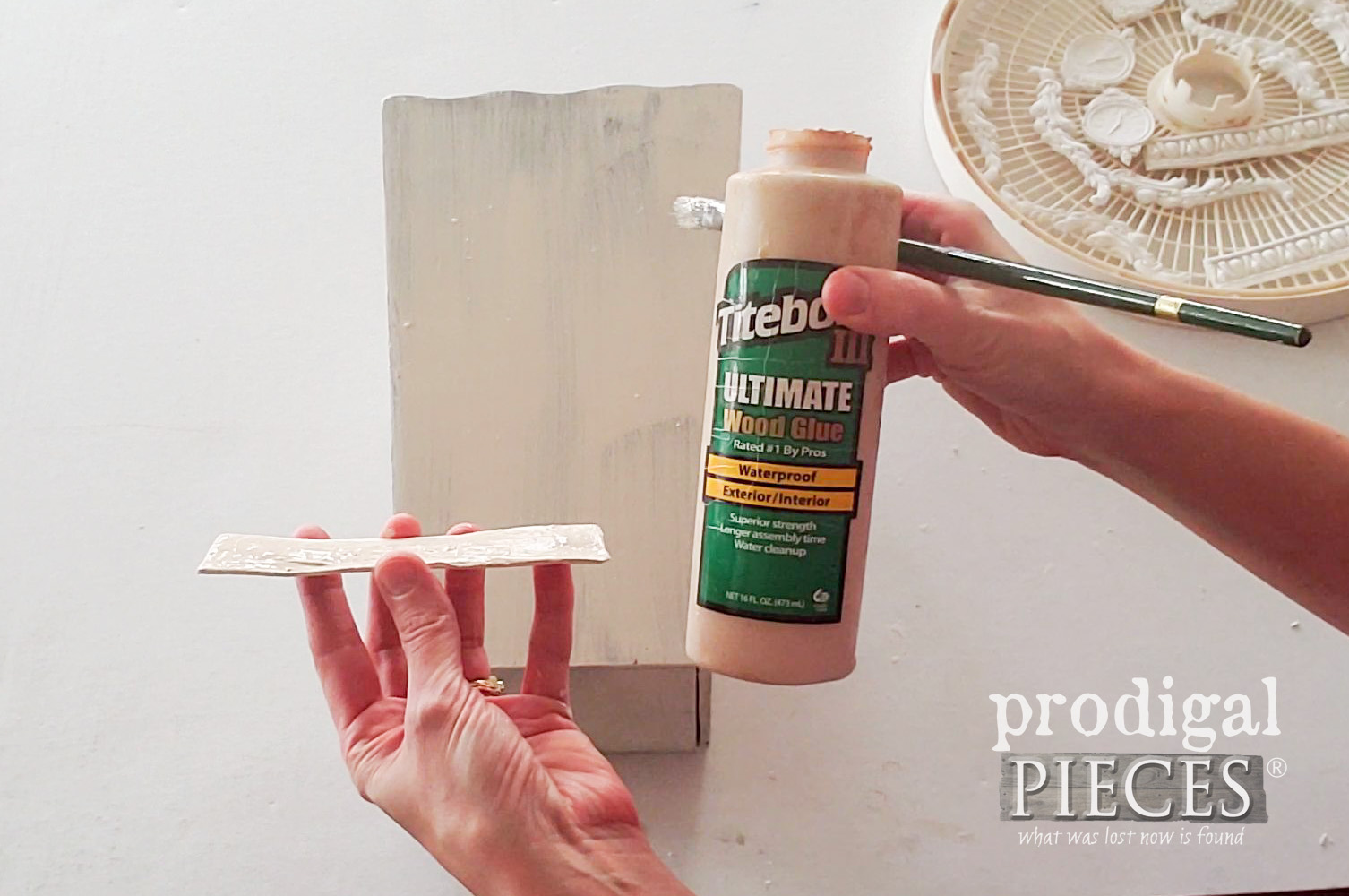 Gluing Appliques with Wood Glue | prodigalpieces.com