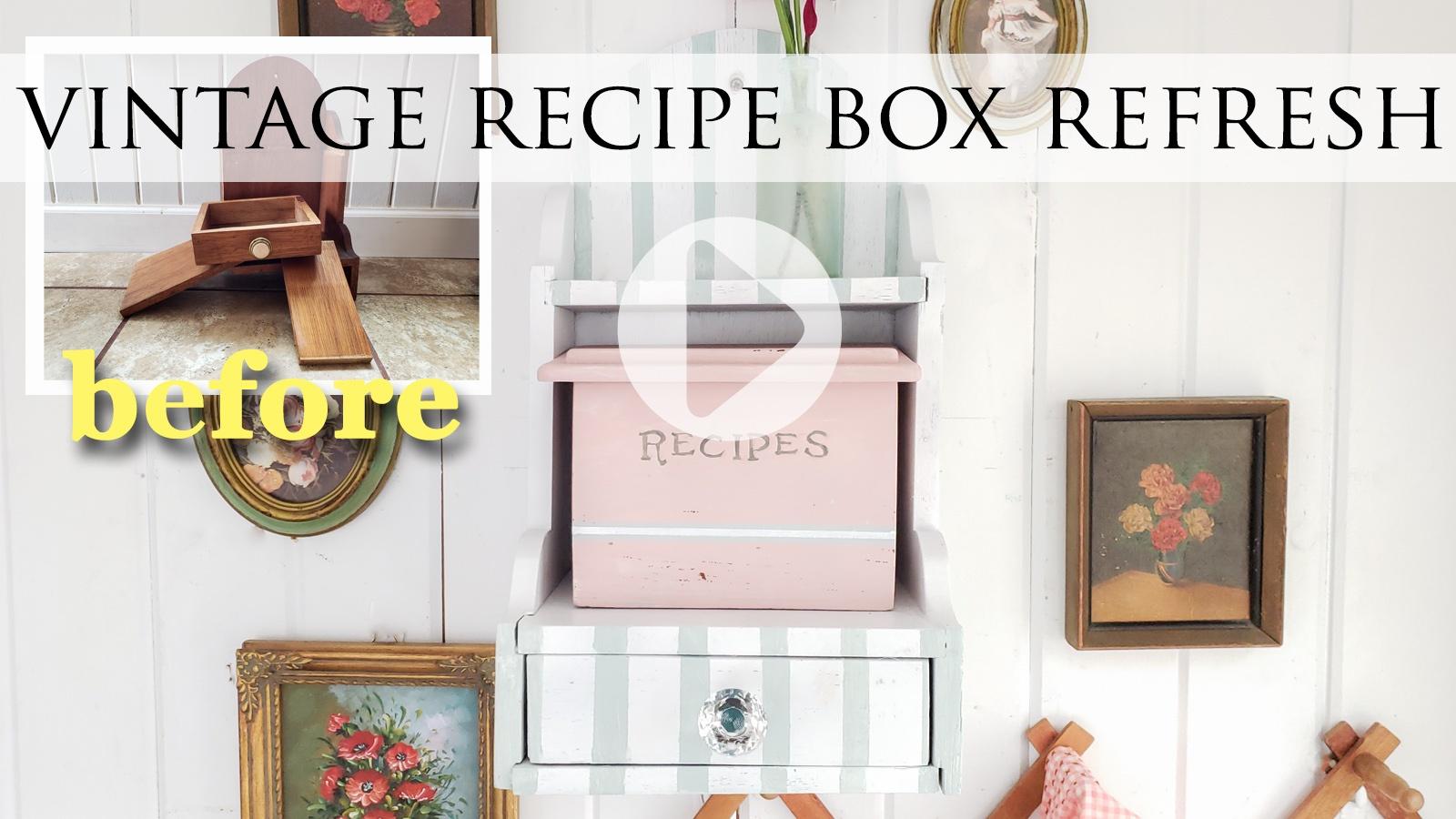 DIY Recipe Box Makeover Video Tutorial by Larissa of Prodigal Pieces | prodigalpieces.com #prodigalpieces