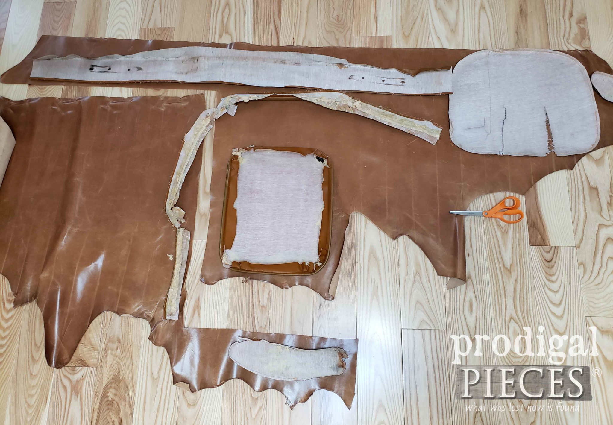 Leather Upholstery Layout | prodigalpieces.com