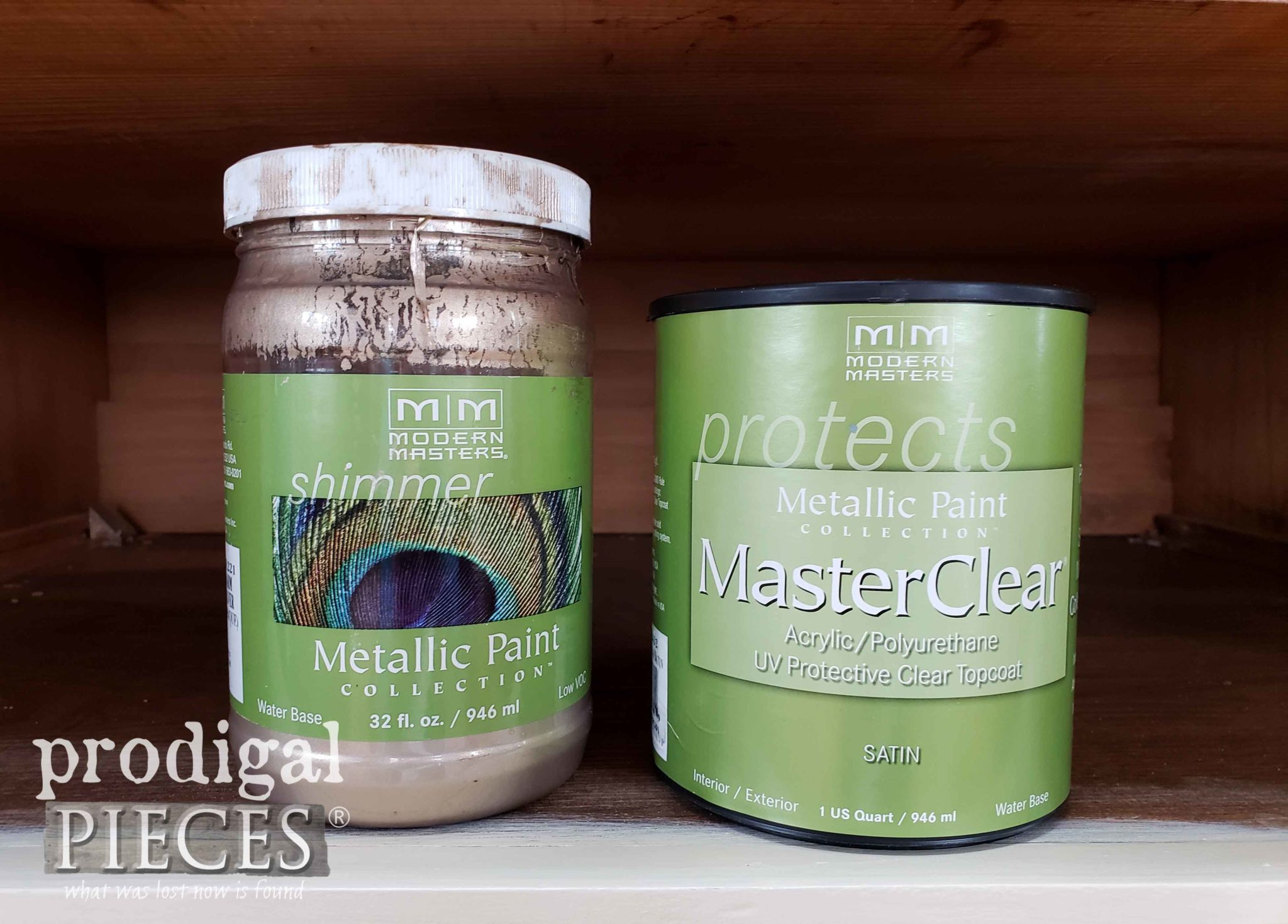 Modern Masters Metallic Paint Warm Silver and Sating Poly | prodigalpieces.com