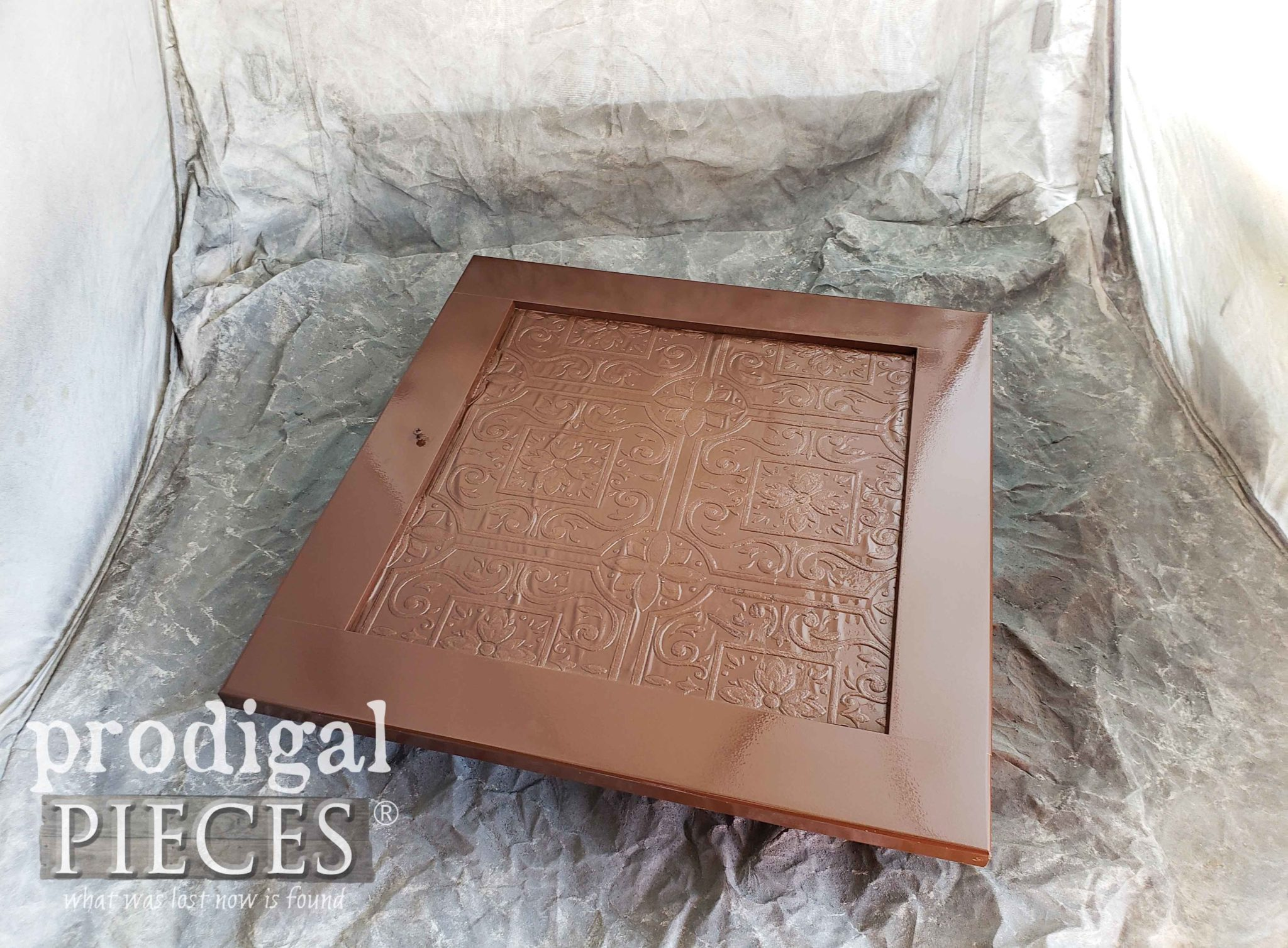 Textured and Painted Cupboard Door | prodigalpieces.com