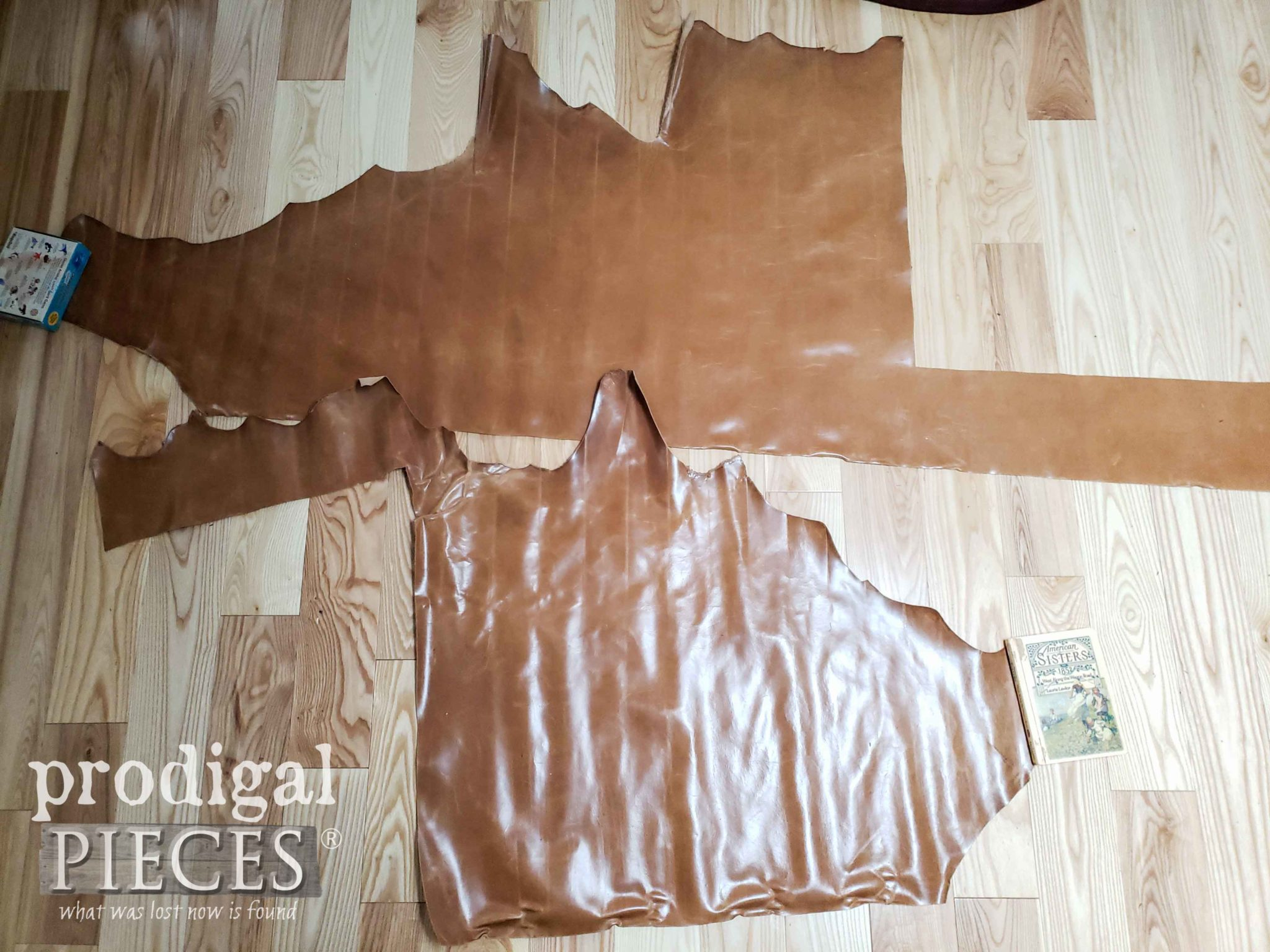 Uncut Leather for Vintage Office Chair Upholstery by Larissa of Prodigal Pieces | prodigalpieces.com