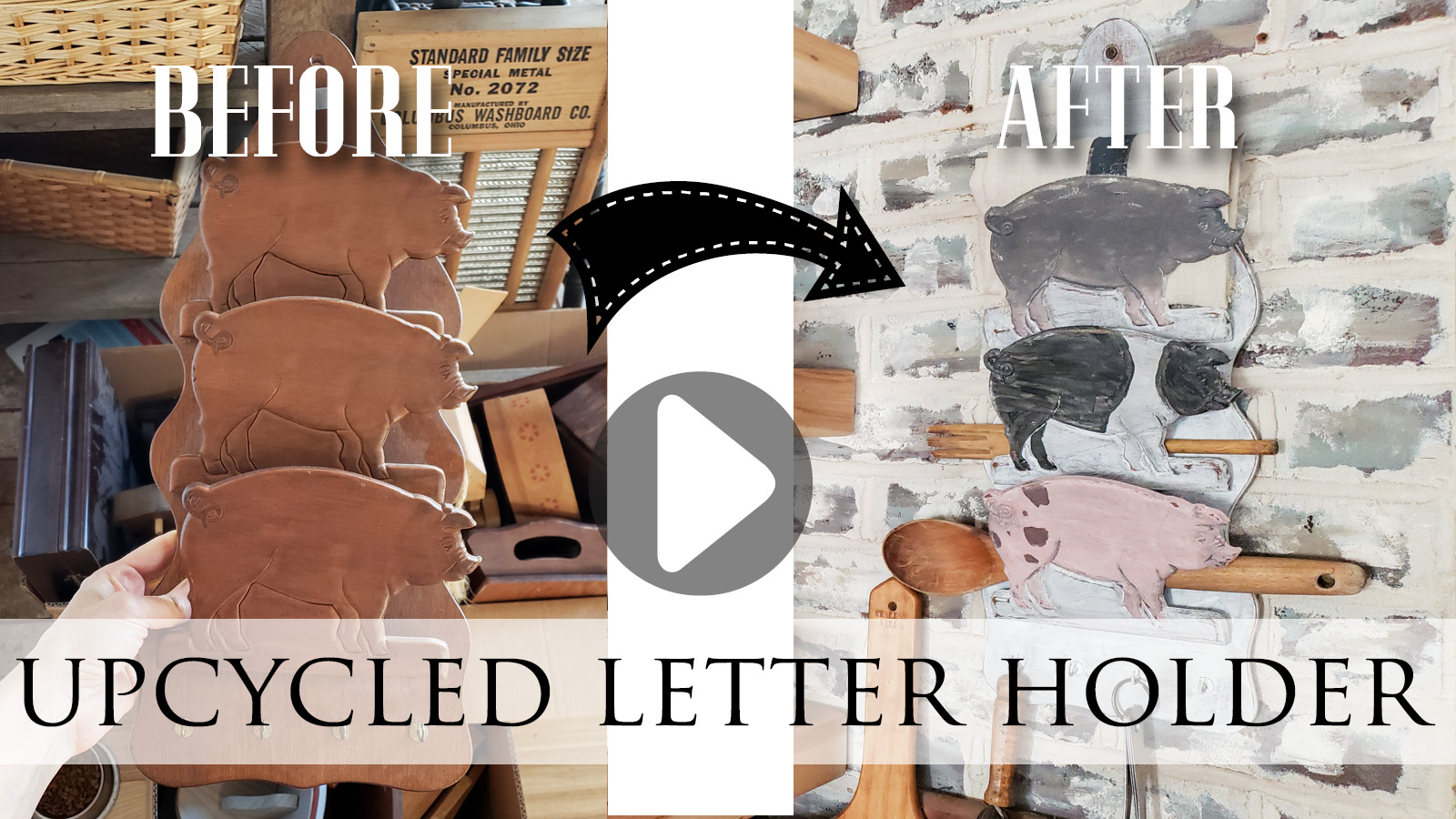 Video Tutorial for and Upcycled Letter Holder by Larissa of Prodigal Pieces | prodigalpieces.com #prodigalpieces