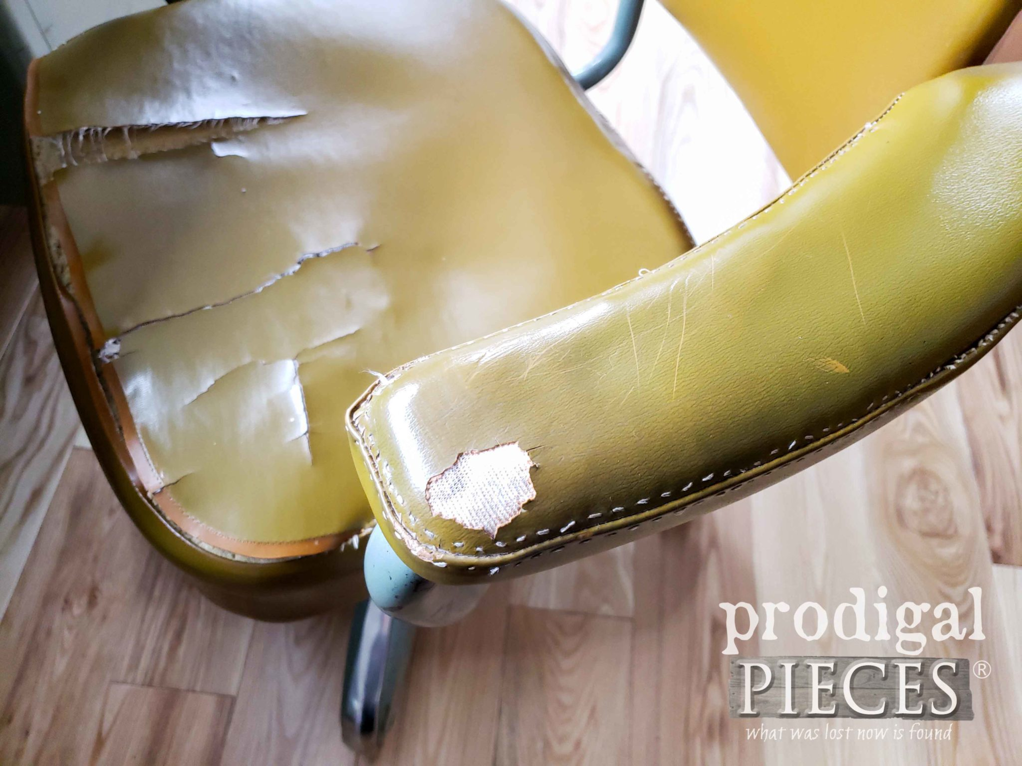 Vintage Desk Chair Damage | prodigalpieces.com