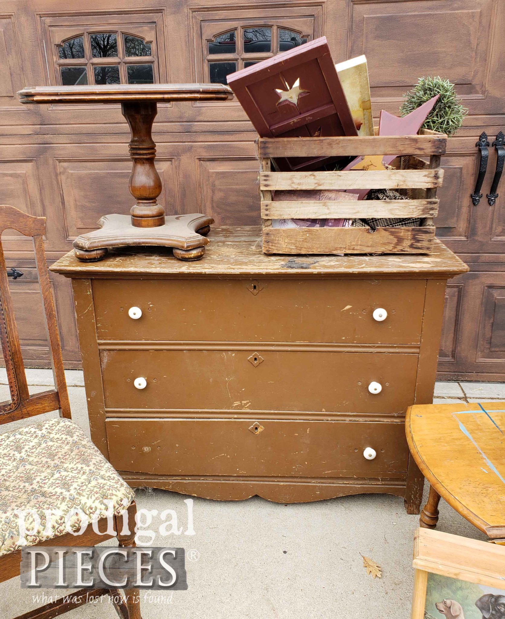 Antique Chest of Drawers Found Curbside by Larissa of Prodigal Pieces | prodigalpieces.com