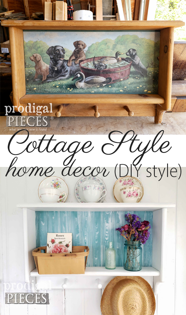 Create your own cottage style home decor using thrifted finds with a makeover. | DIY details by Larissa of Prodigal Pieces at prodigalpieces.com #prodigalpieces #diy #home #homedecor #handmade #vintage #cottagestyle #coastal