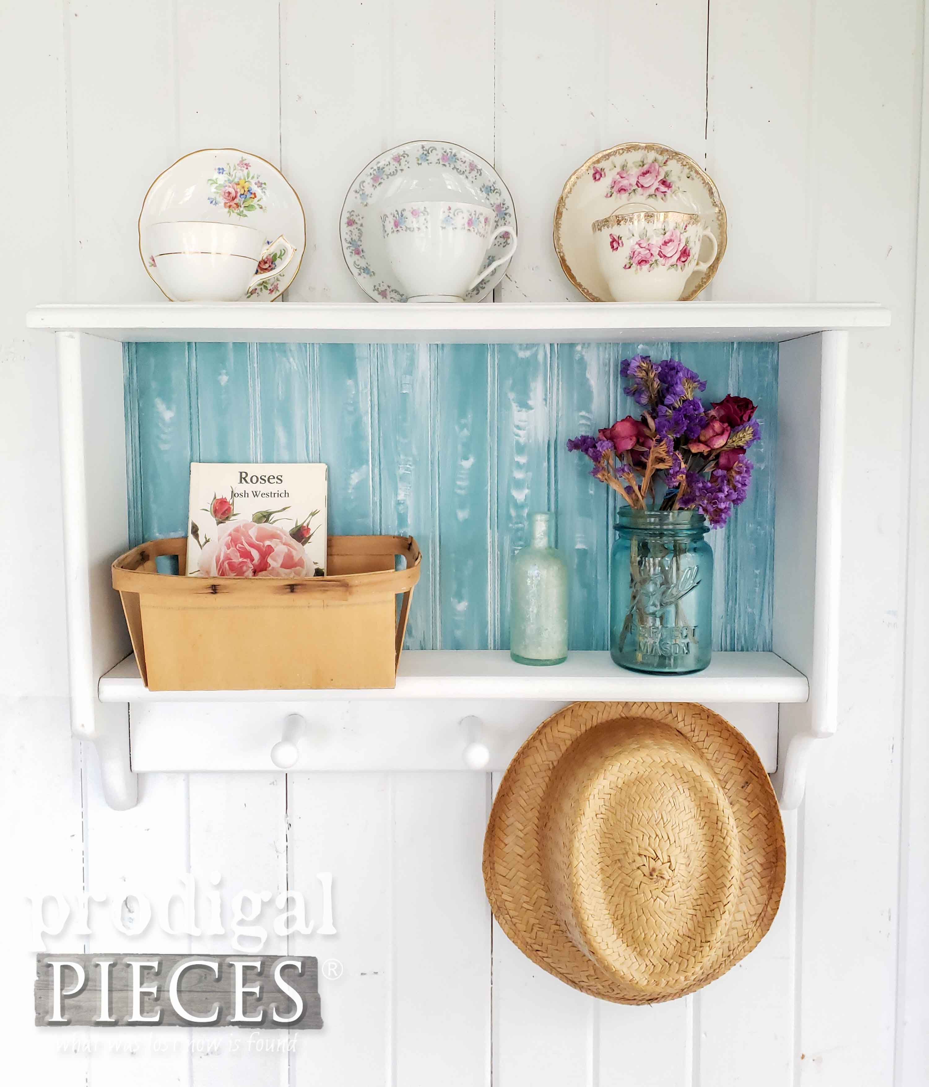 DIY Cottage Style Coat Rack from Thrifted Find by Larissa of Prodigal Pieces | prodigalpieces.com #prodigalpieces #diy #home #homedecor #cottagestyle #vintage