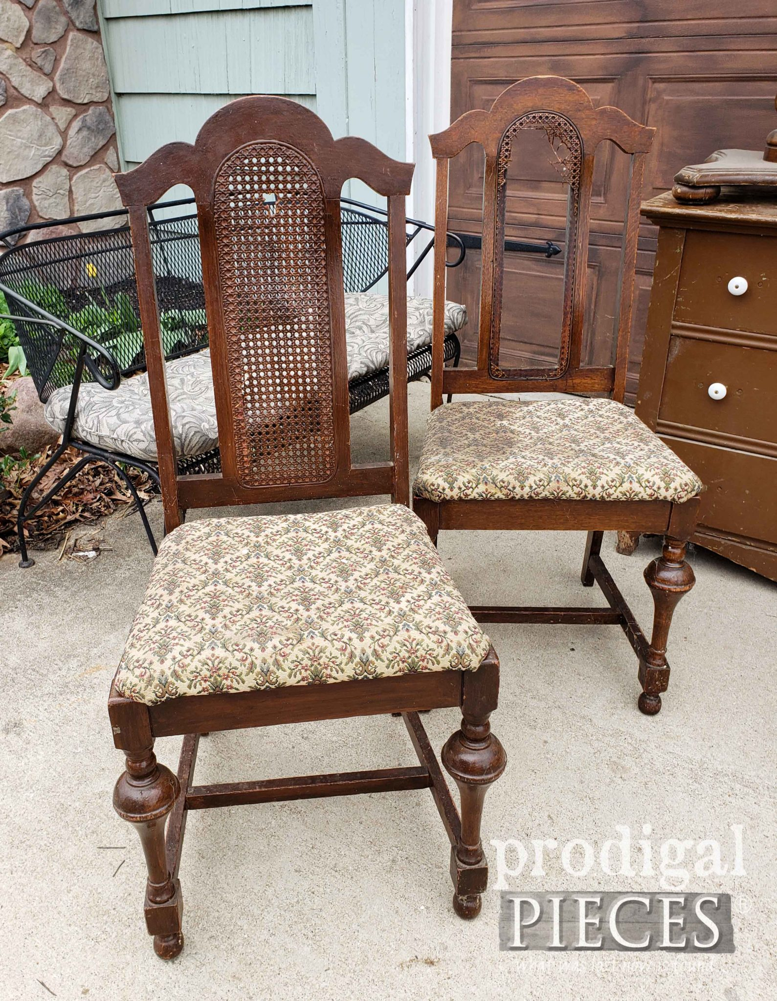 Curbside Antique Dining Chairs Set Out for Trash & Rescued by Larissa of Prodigal Pieces | prodigalpieces.com #prodigalpieces