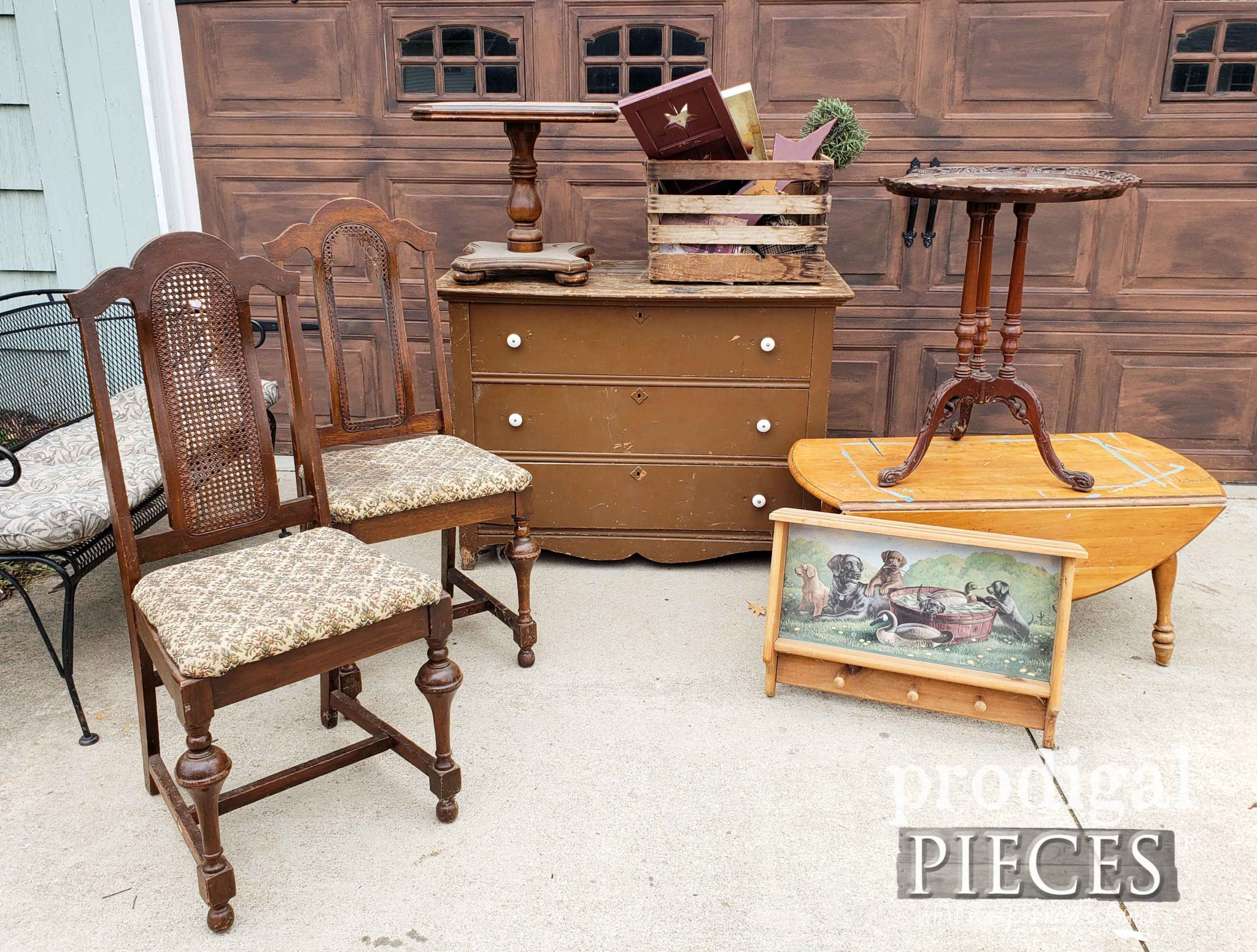 Pile of Furniture Found Curbside #trashure by Larissa of Prodigal Pieces | prodigalpieces.com