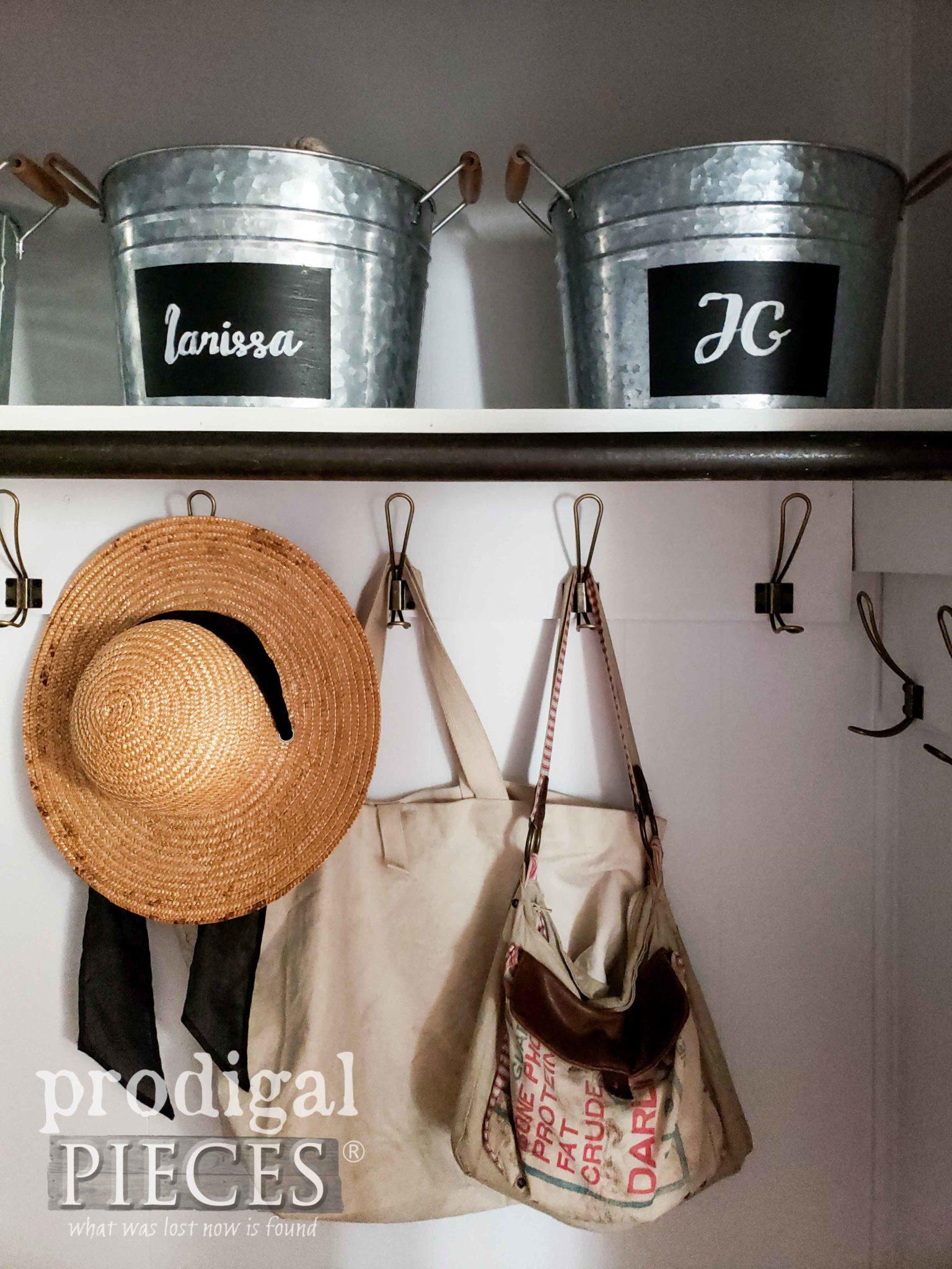 DIY Farmhouse Entry Storage by Larissa of Prodigal Pieces | prodigalpieces.com #prodigalpieces #diy #home #homedecor #farmhouse #storage #homeimprovement #diy