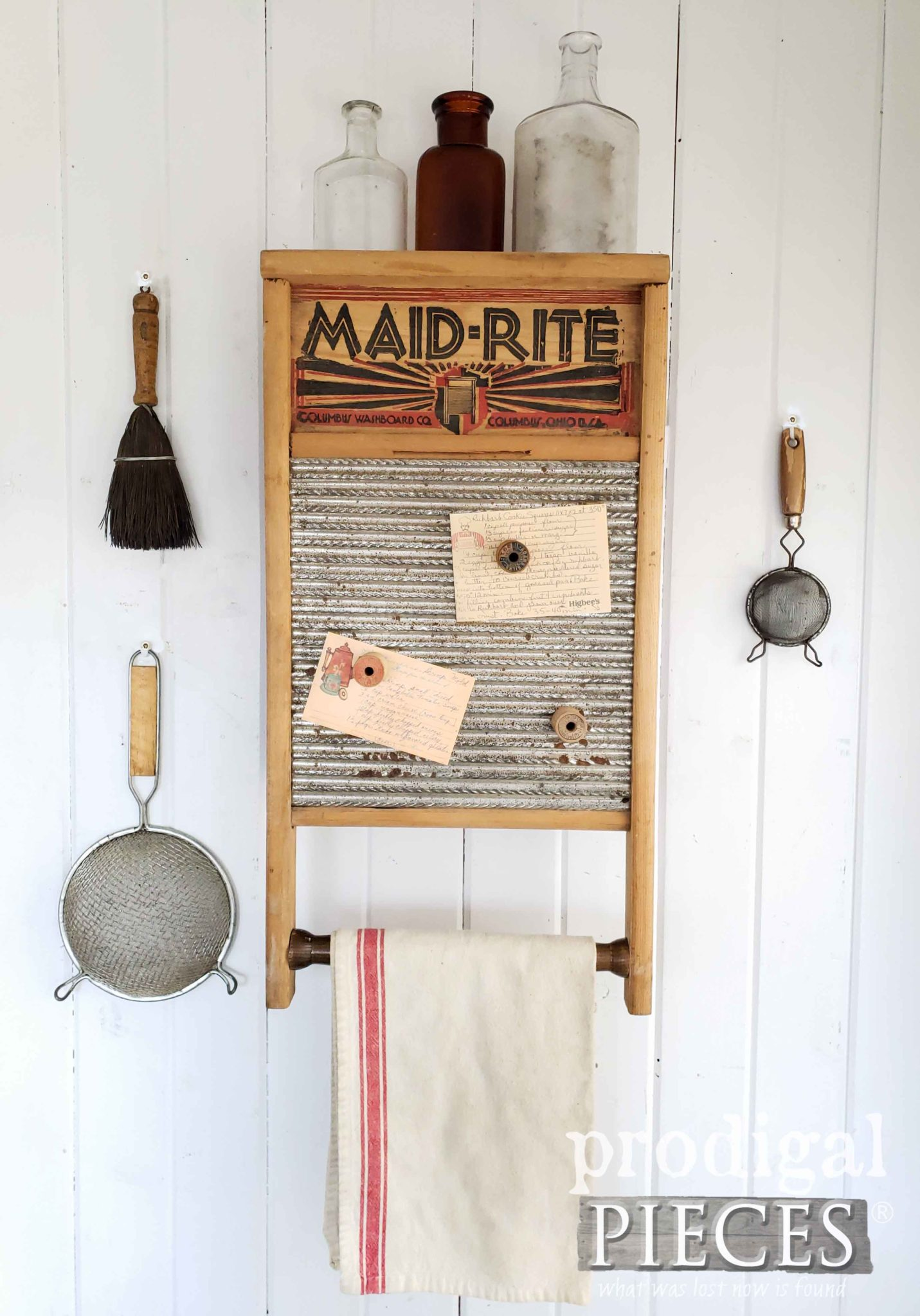 Upcycled Farmhouse Washboard Cupboard with Hidden Storage by Larissa of Prodigal Pieces   prodigalpieces.com #prodigalpieces #diy #handmade #home #farmhouse #homedecor #vintage #retro
