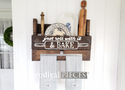 Featured Upcycled Pallet from Wine Rack to Farmhouse Towel Rack with Storage by Prodigal Pieces | Get the DIY details at prodigalpieces.com #prodigalpieces #diy #upcycled #home #homedecor #farmhouse #handmade