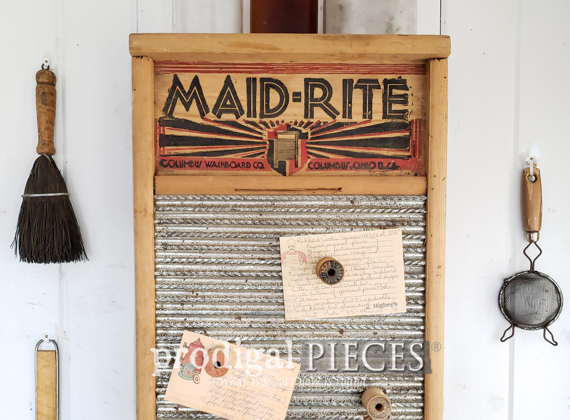 Featured Upcycled Washboard & Silverware Box Cupboard Created by Larissa of Prodigal Pieces | prodigalpieces.com #prodigalpieces #diy #farmhouse #vintage #home #homedecor #vintage