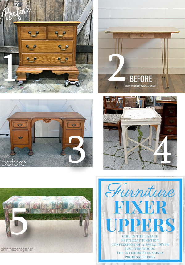 Furniture Fixer Uppers April 2019 via Prodigal Pieces | prodigalpieces.com