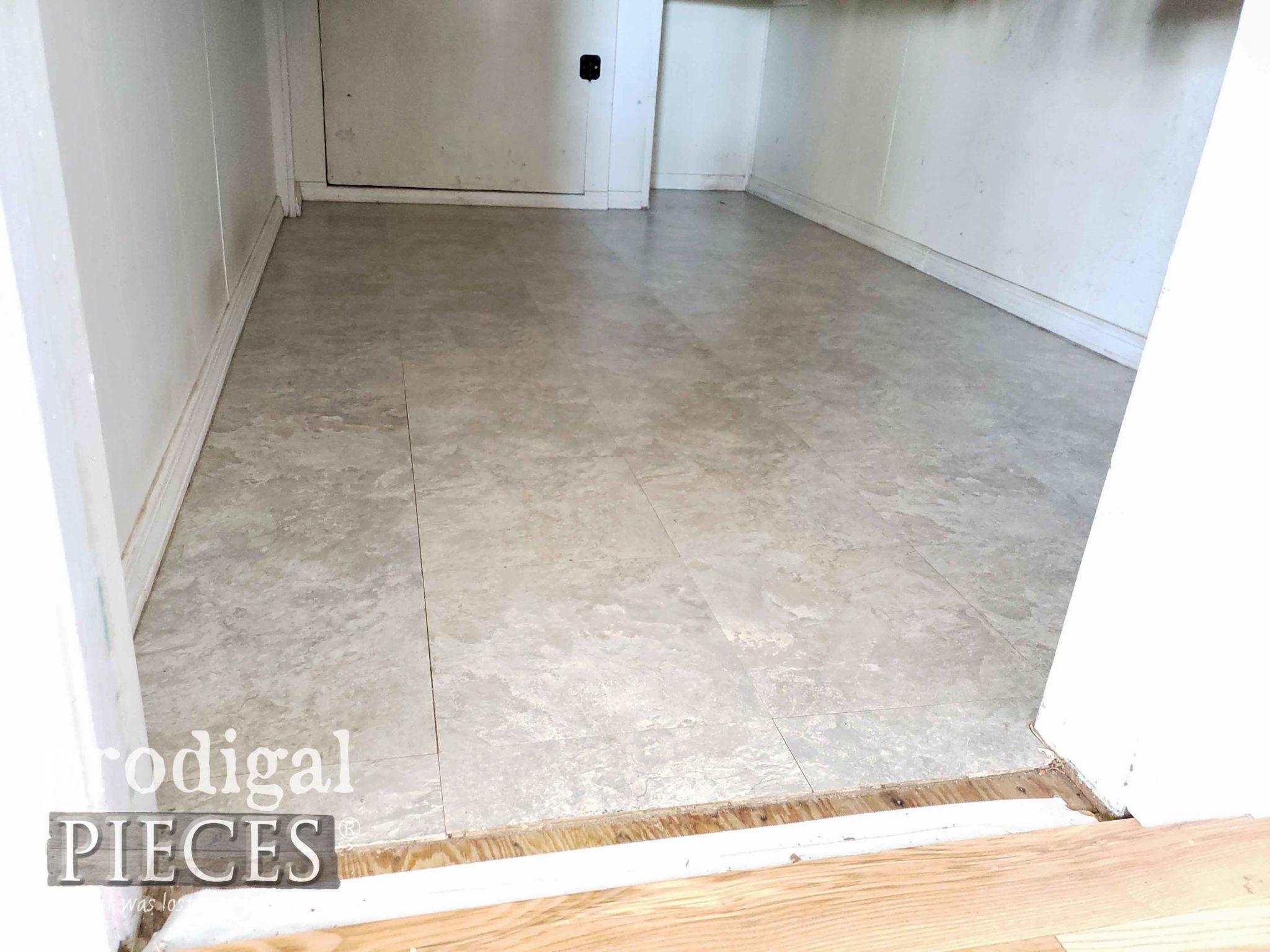 Mudroom Closet Floor Before | prodigalpieces.com