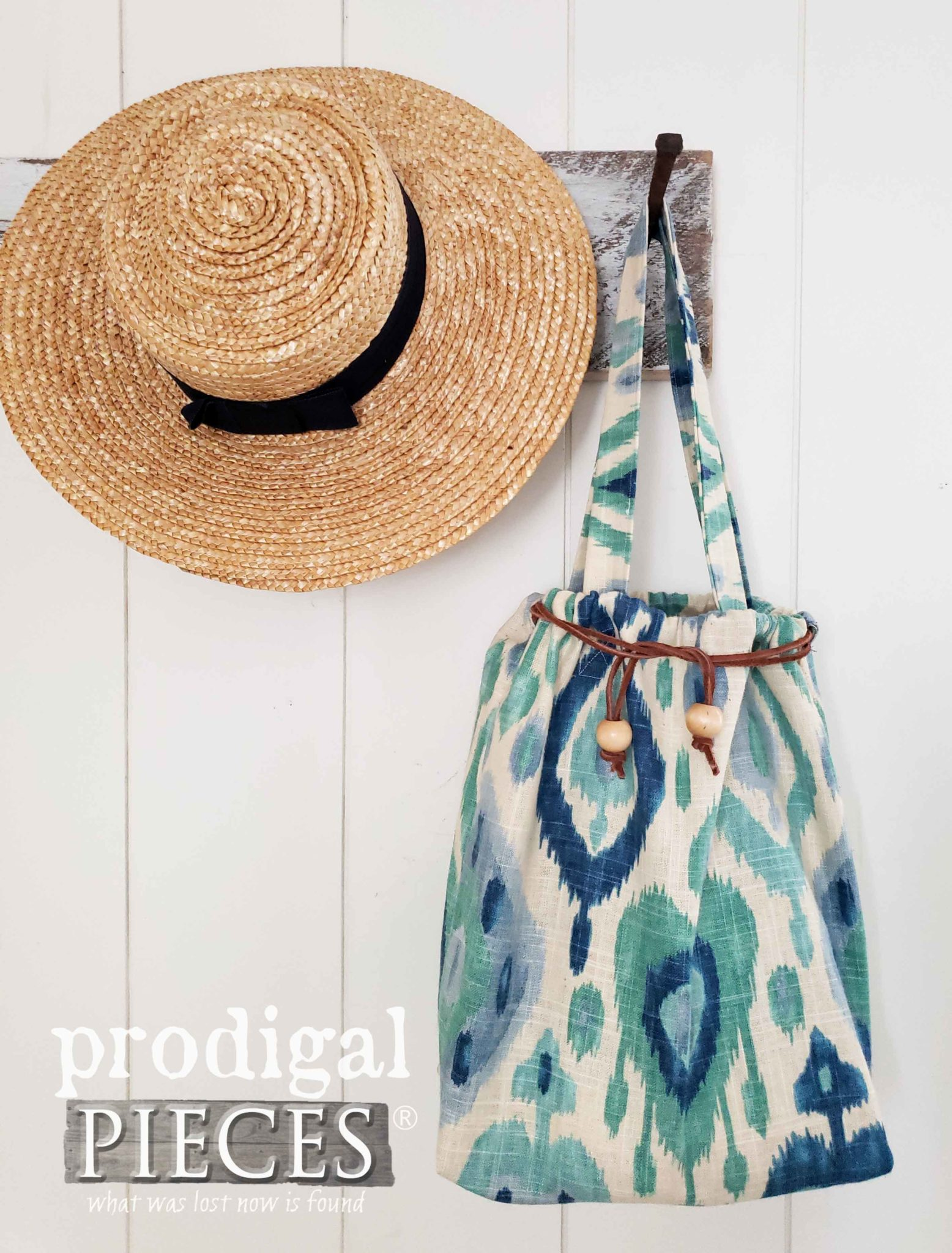 Handmade Boho Style Ikat Drawstring Bag by Larissa of Prodigal Pieces | prodigalpieces.com #prodigalpieces #handmade #fashion
