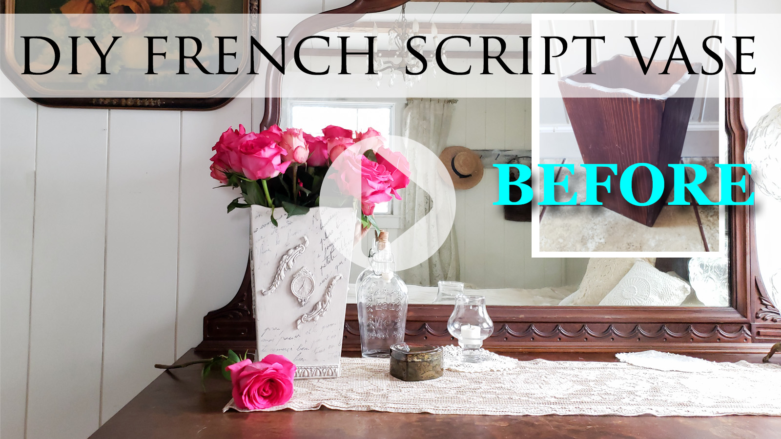 DIY Video Tutorial for a French Script Vase by Larissa of Prodigal Pieces | prodigalpieces.com #prodigalpieces