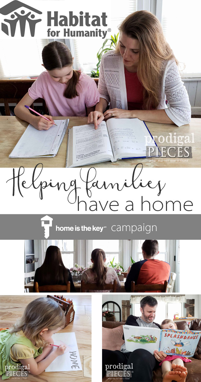 Join Larissa & Family of Prodigal Pieces Support the Habitat for Humanity #HomeistheKey Campaign | Helps others find HOME | Head to prodigalpieces.com #prodigalpieces #homeisthekey #family