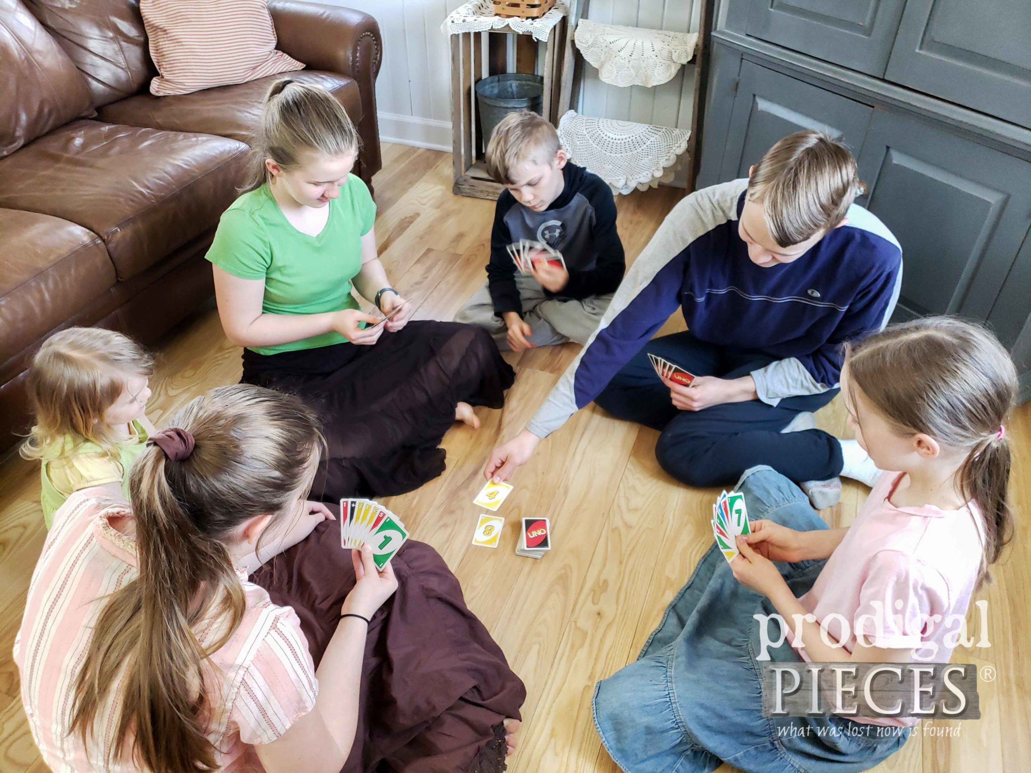 Kids Playing Cards at Home | prodigalpieces.com #homeisthekey #prodigalpieces #home