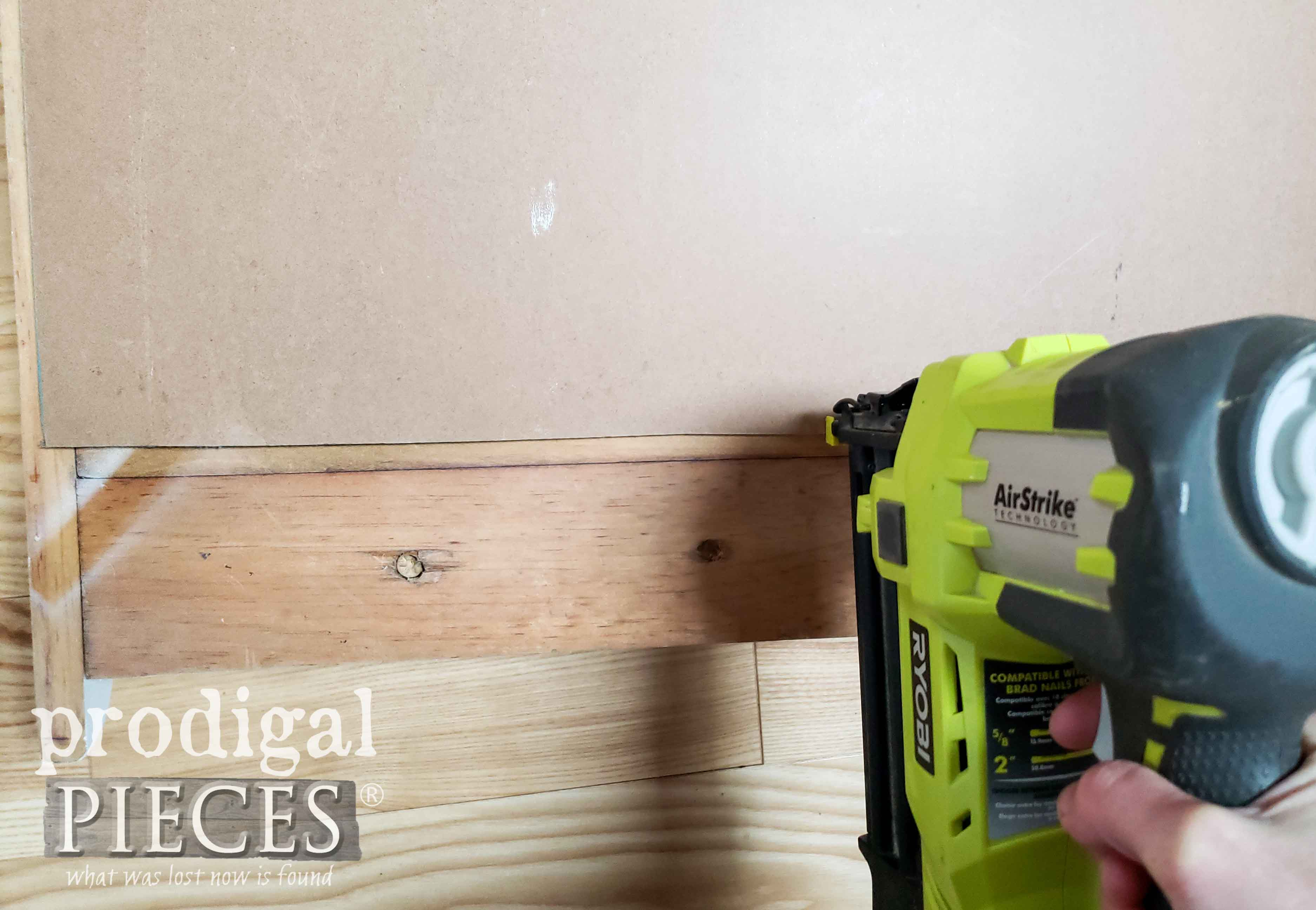 Nailing Bead Board with Ryobi Nailer by Prodigal Pieces | prodigalpieces.com