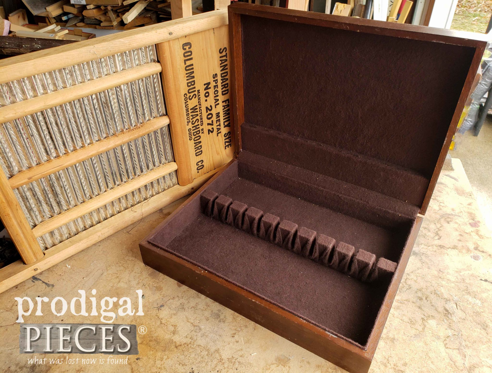 Open Silverware Box Before Upcycling by Prodigal Pieces | prodigalpieces.com