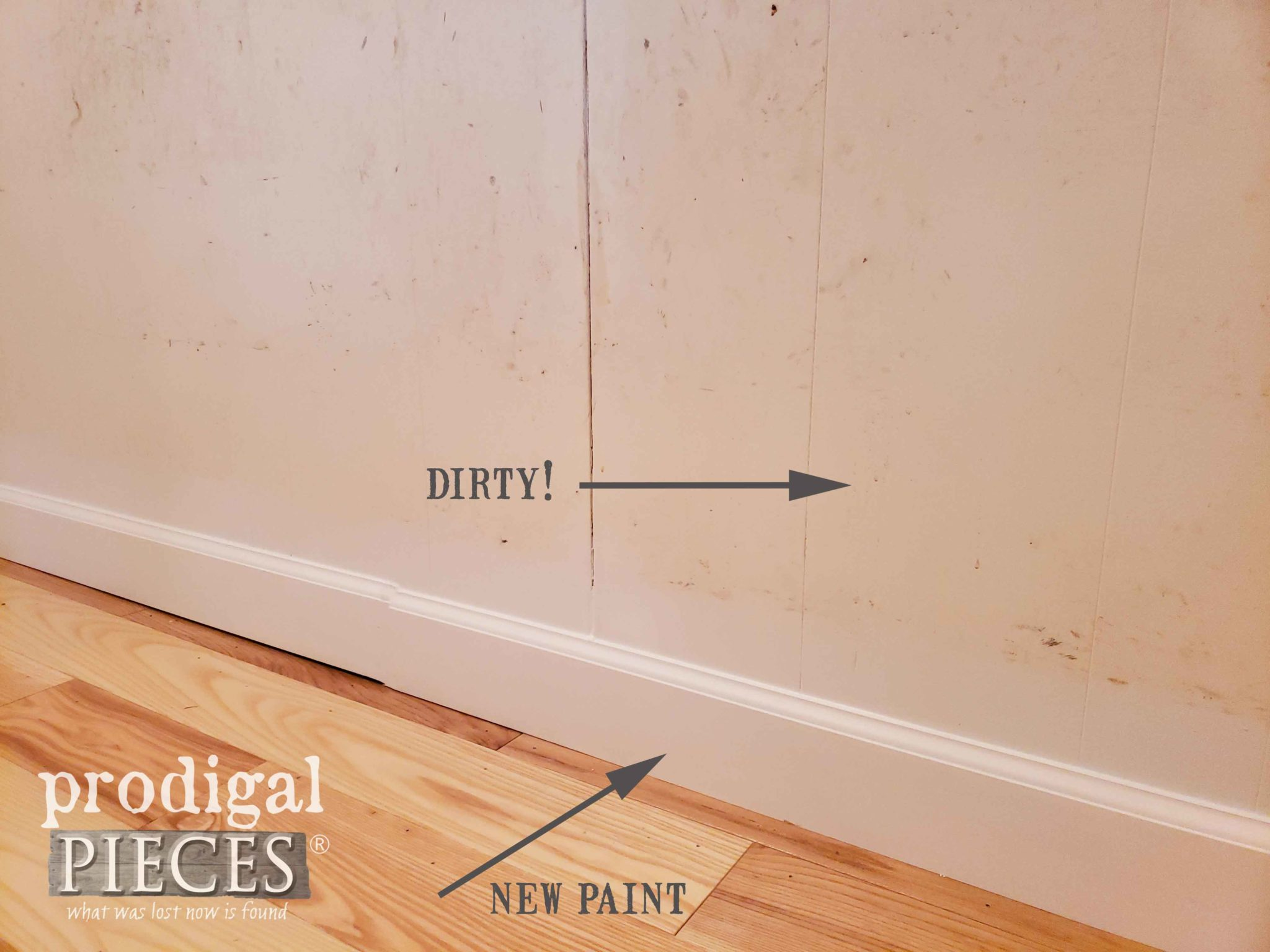 Painting Mudroom Wall with a Fresh Coat of Paint | prodigalpieces.com