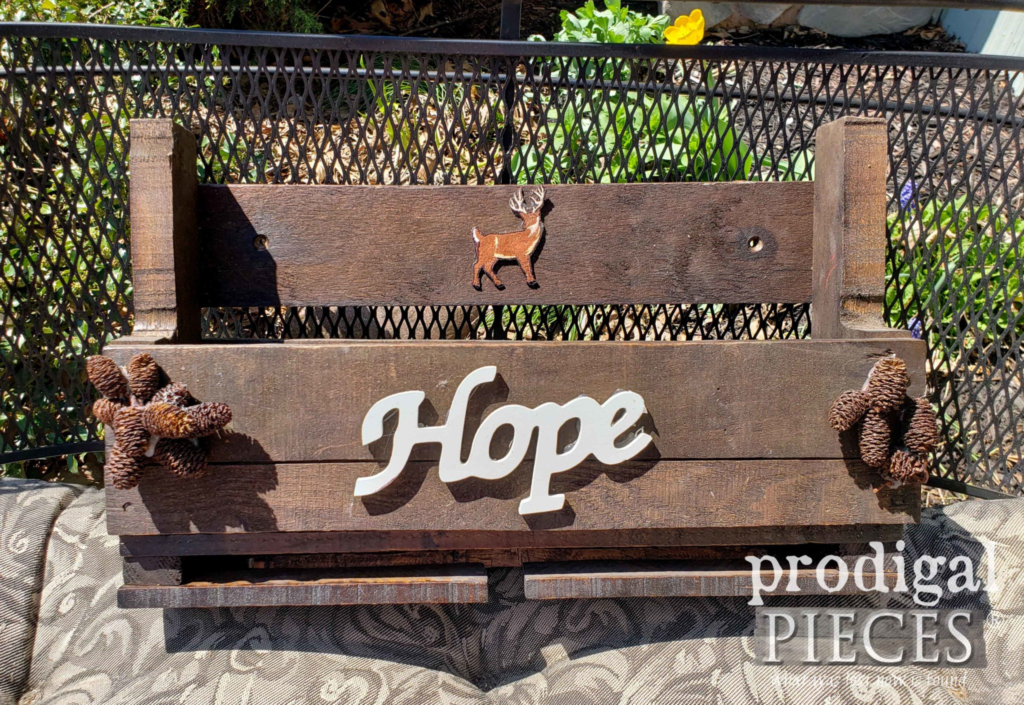 Handmade Upcycled Pallet Wine Rack Before Makeover by Prodigal Pieces | prodigalpieces.com