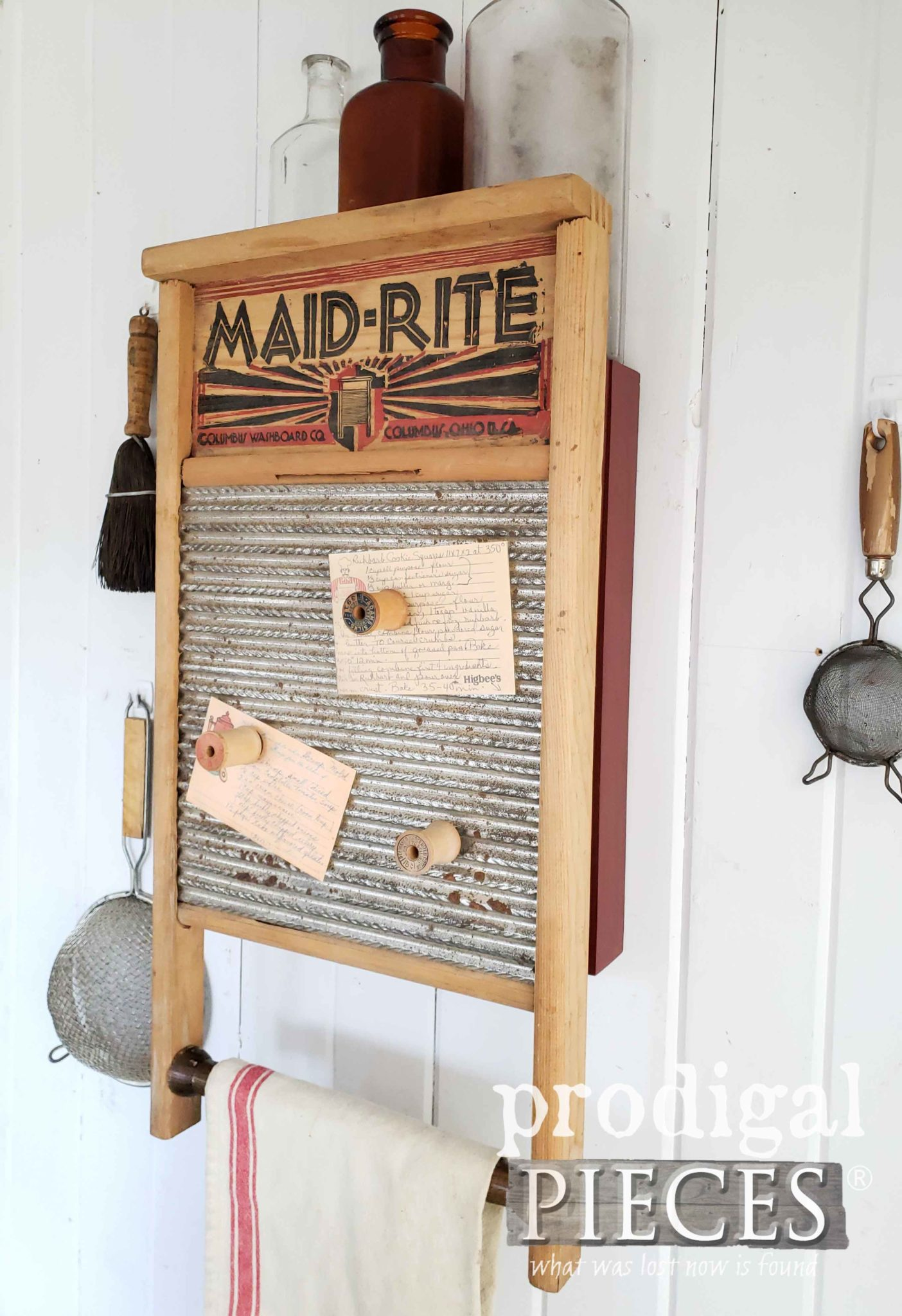 Upcycled Washboard Cupboard with Hidden Storage for Kitchen, Laundry, Bath, and more   by Larissa of Prodigal Pieces   prodigalpieces.com #prodigalpieces #diy #handmade #farmhouse #homedecor #vintage