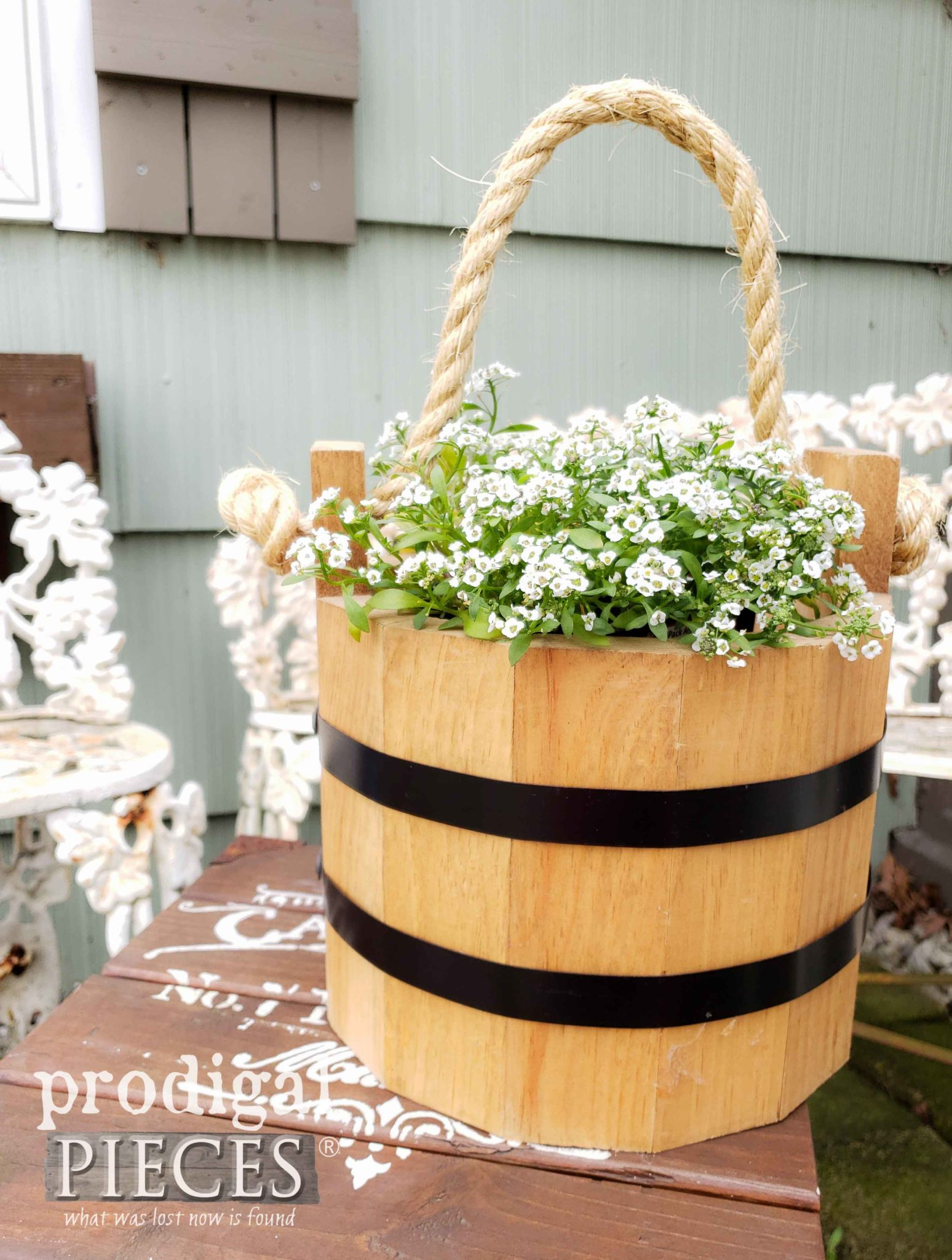 Handmade Wooden Buckets by Amish in the Heart of Ohio | Farmhouse Decor at Prodigal Pieces | shop.prodigalpieces.com #prodigalpieces #shopping #farmhouse #home #homedecor