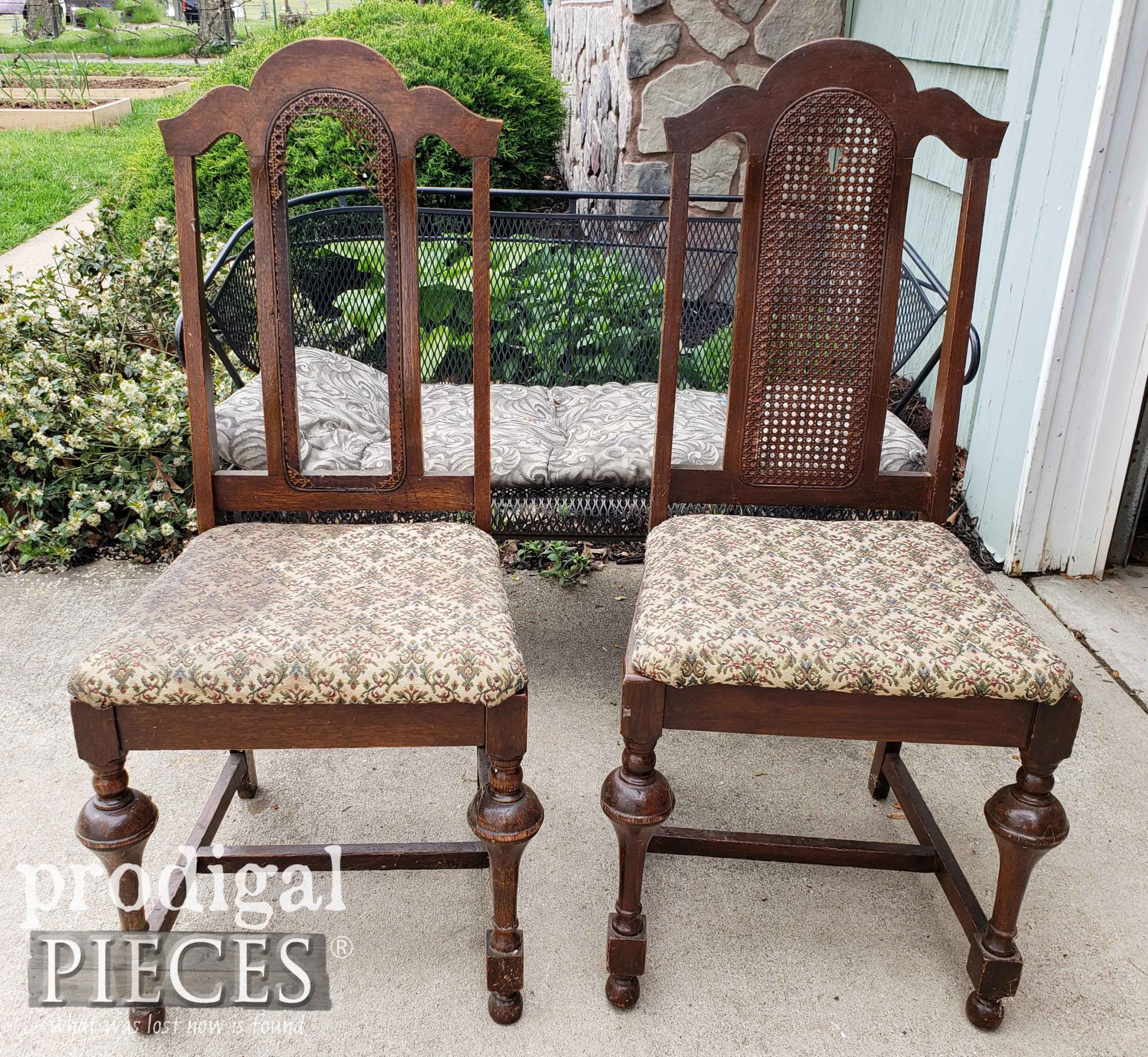 Pair of Antique Chairs Found on the Curb by Larissa of Prodigal Pieces | prodigalpieces.com