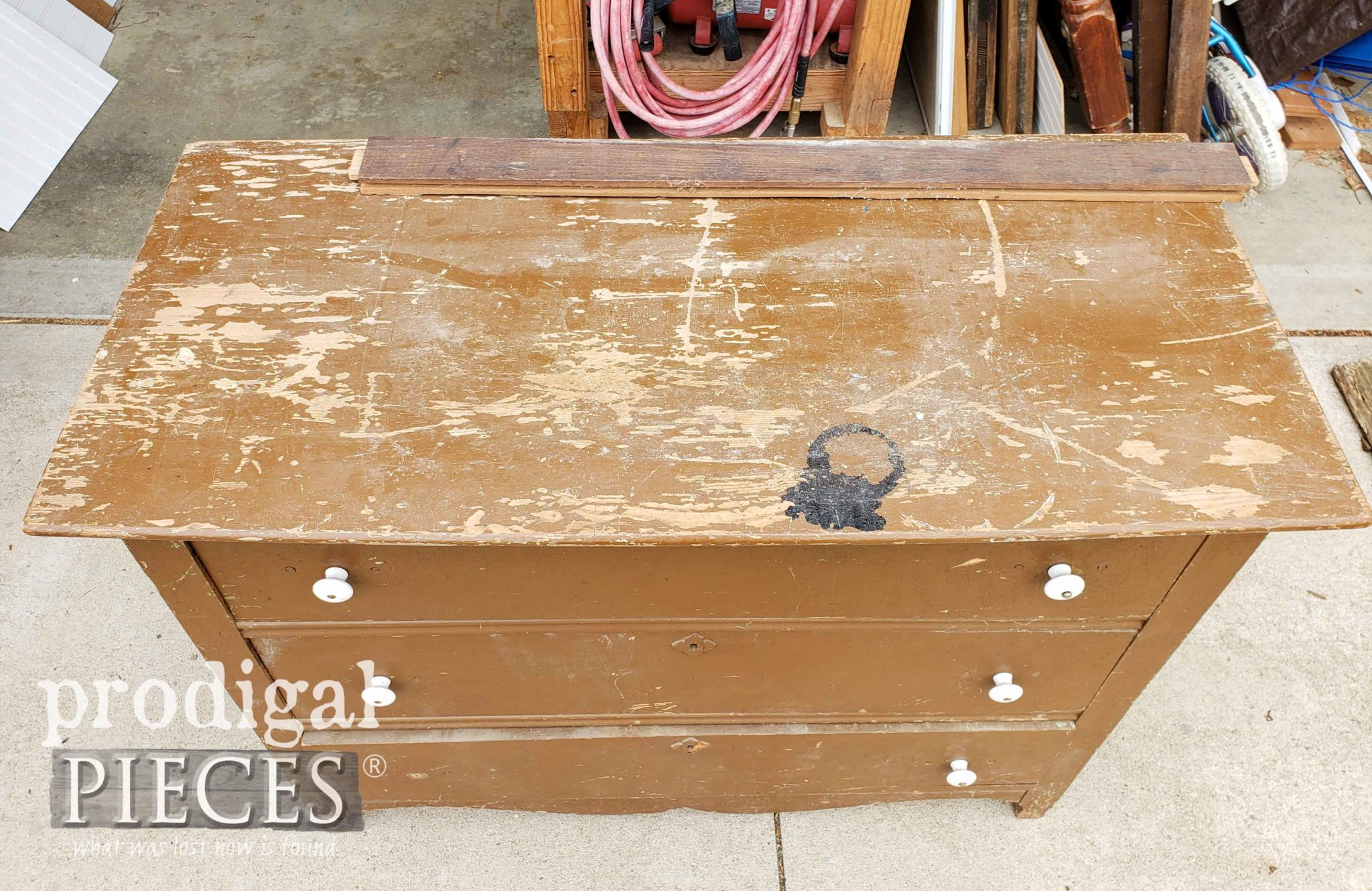 Antique Chest of Drawers Damaged Top | prodigalpieces.com
