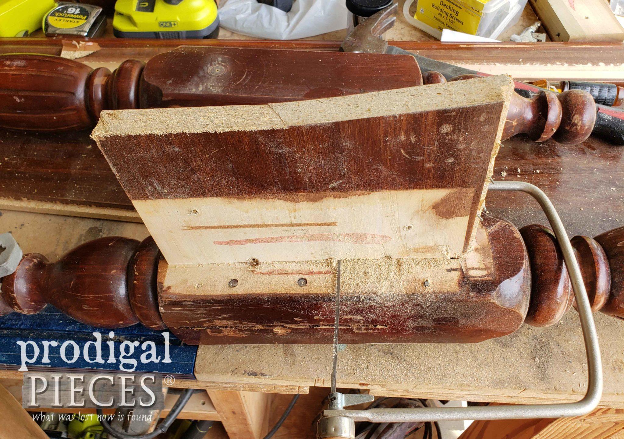 Cutting Footboard apart | prodigalpieces.com