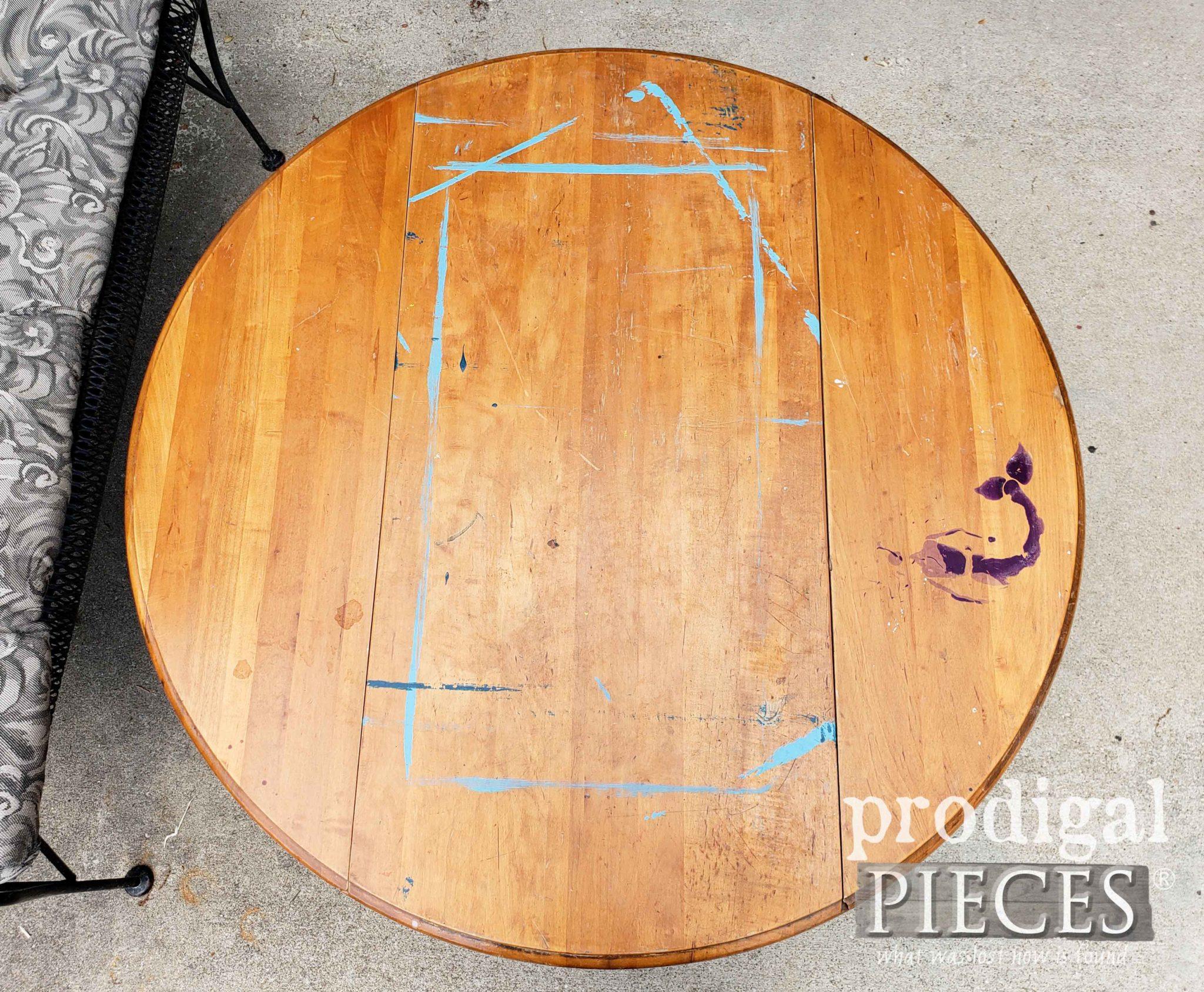 Damaged Drop-Leaf Coffee Table Top | prodigalpieces.com