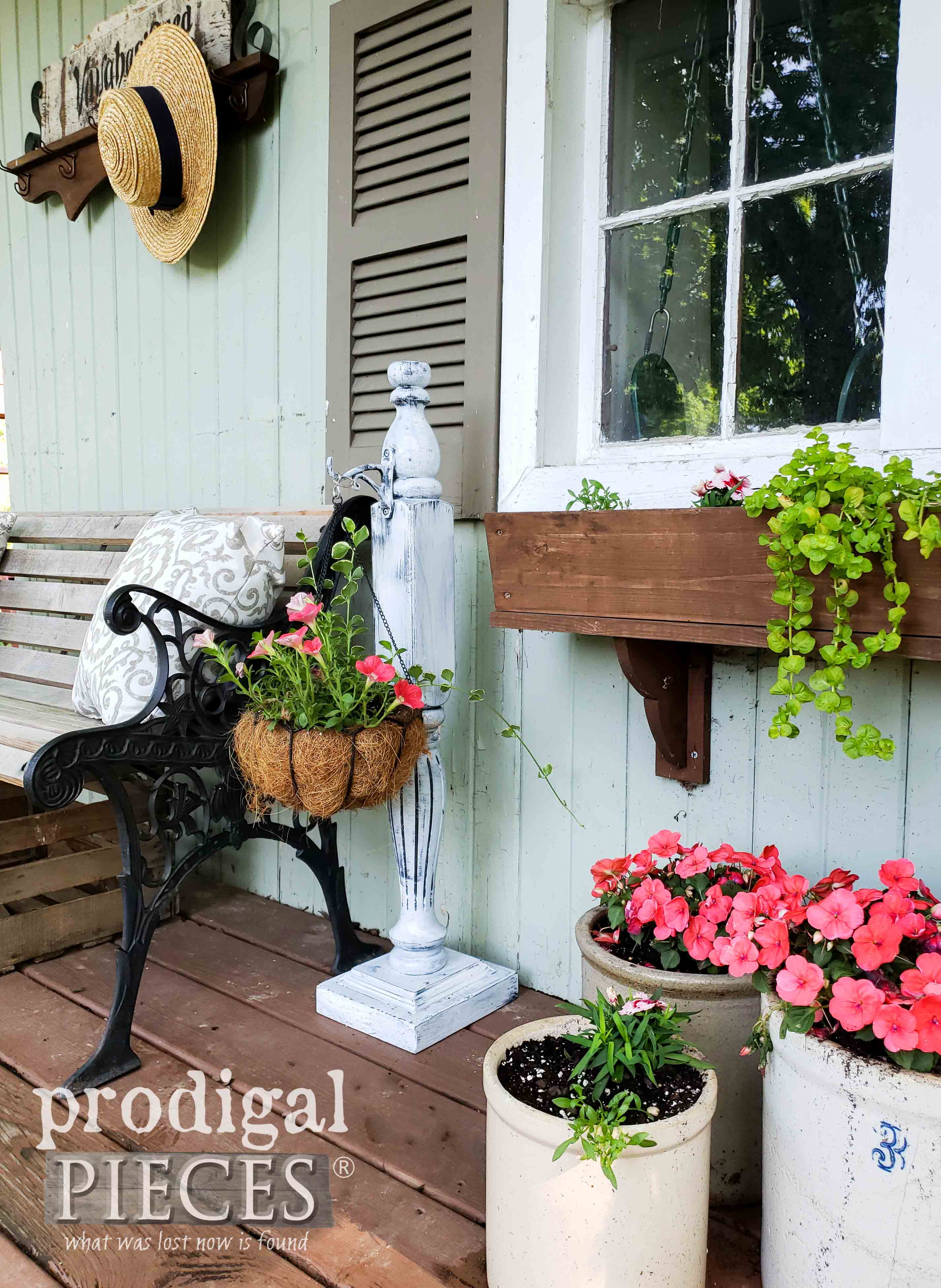 DIY Garden Shed Decor from Upcycled Materials by Larissa of Prodigal Pieces | prodigalpieces.com #prodigalpieces #diy #home #homedecor #garden #farmhouse