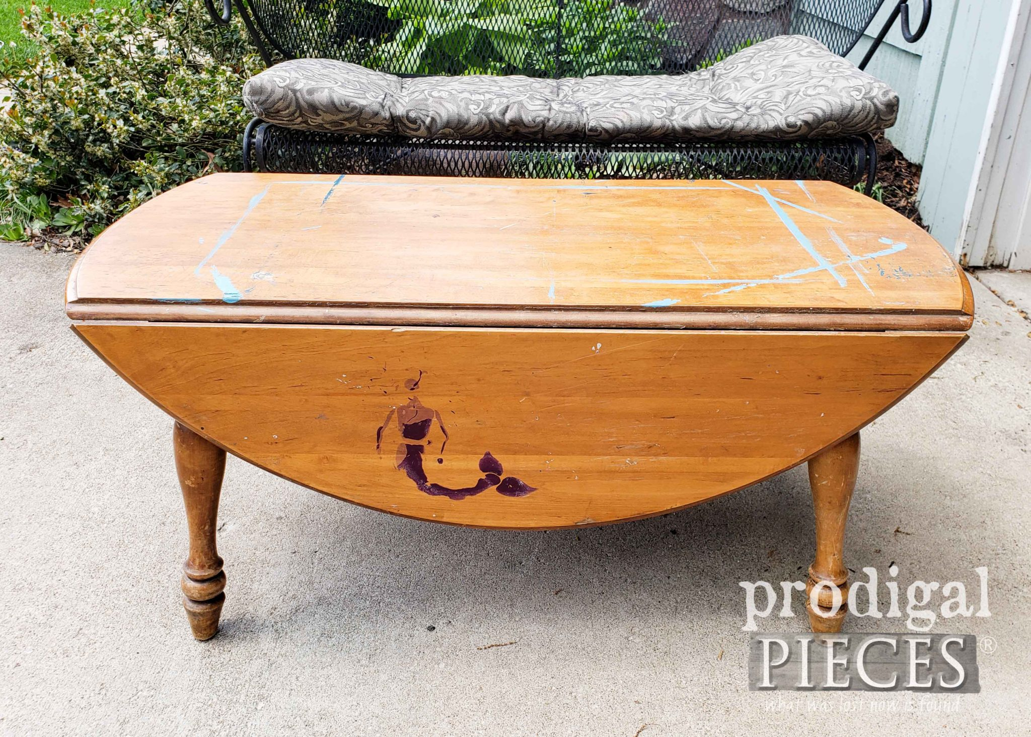 Vintage Drop-Leaf Table Found Curbside by Prodigal Pieces | prodigalpieces.com #prodigalpieces