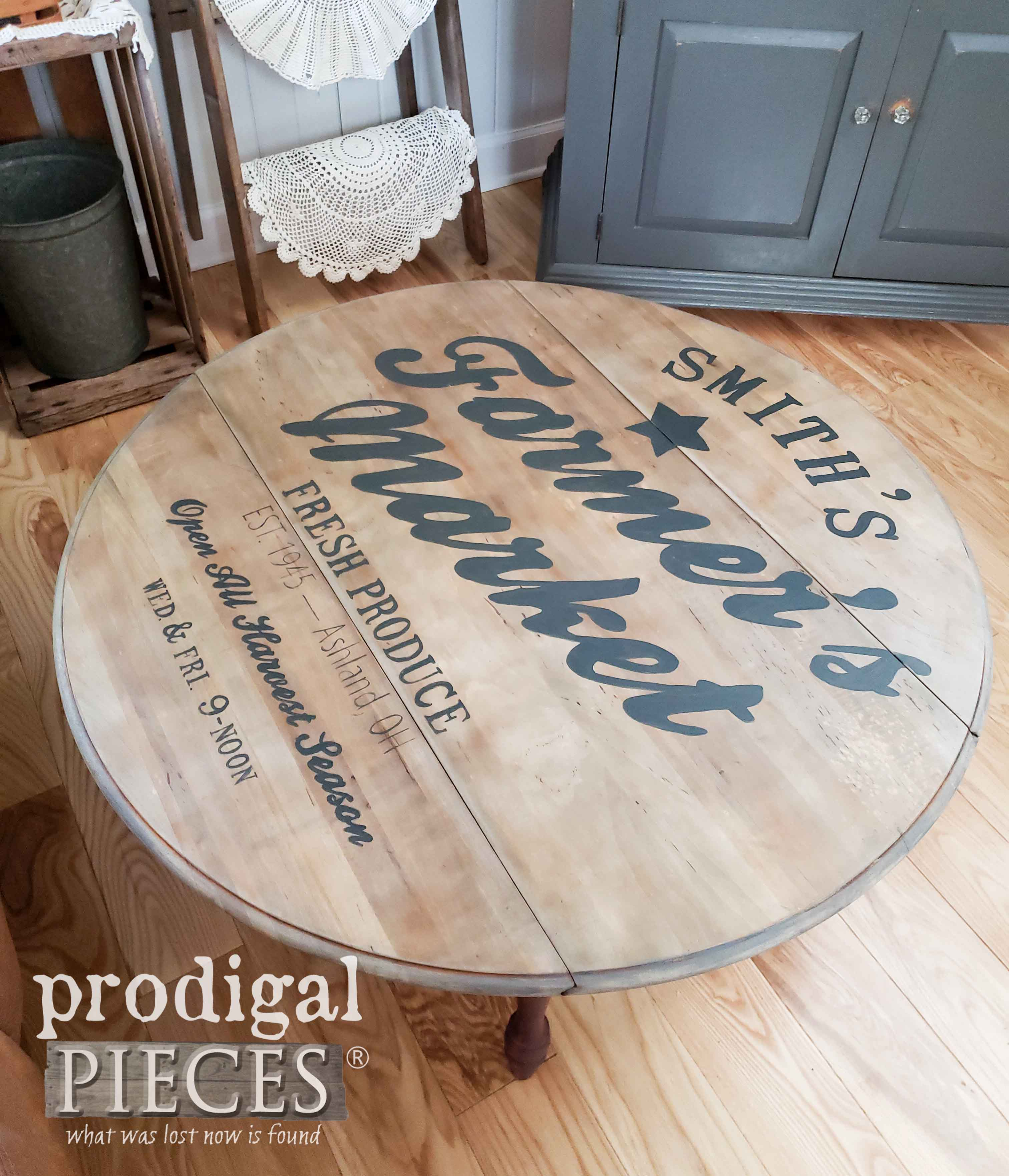 Farmer's Market Coffee Table for Farmhouse Decor by Larissa of Prodigal Pieces | prodigalpieces.com #prodigalpieces #diy #handmade #home #farmhouse #homedecor