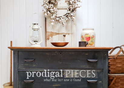 Featured Farmhouse Chest of Drawers Found Curbside & Made New by Larissa of Prodigal Pieces | prodigalpieces.com #prodigalpieces #diy #furniture #home #homedecor #farmhouse #vintage